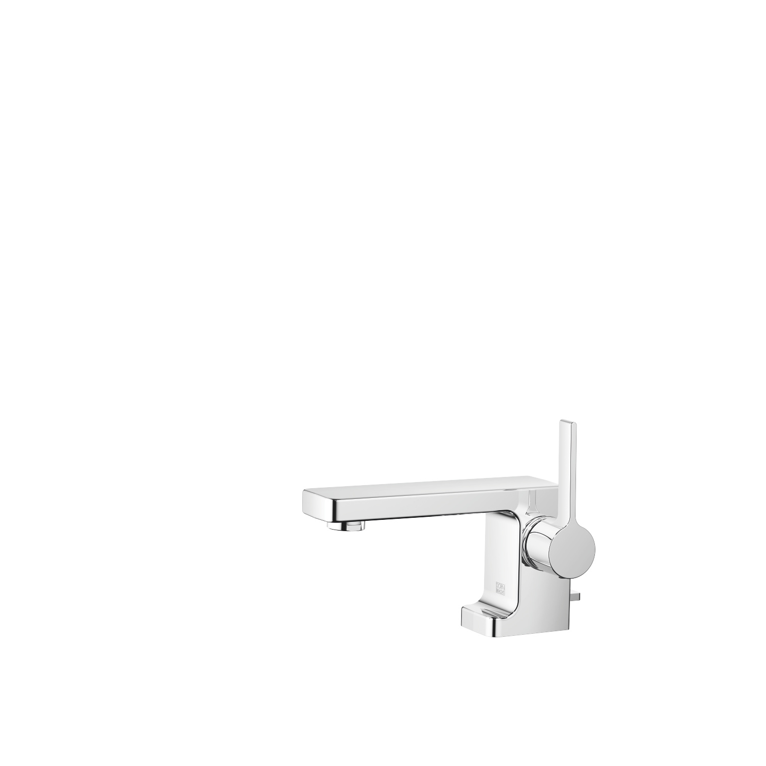 Single-lever basin mixer with pop-up waste - polished chrome