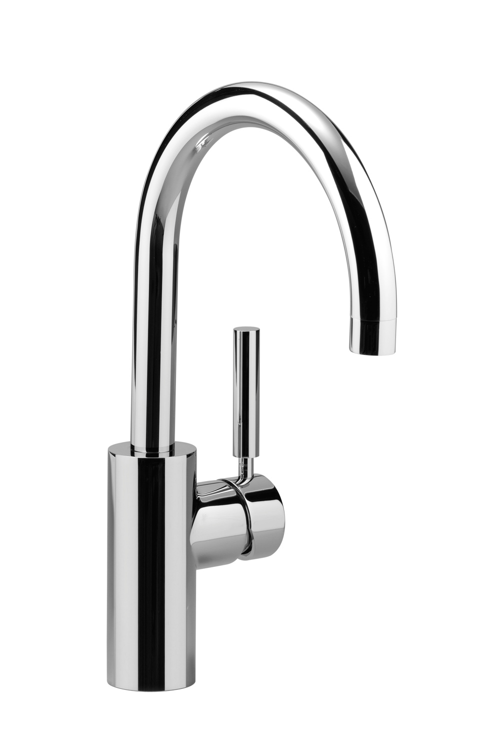 Single-lever basin mixer without pop-up waste - platinum matt - 33 505 885-06