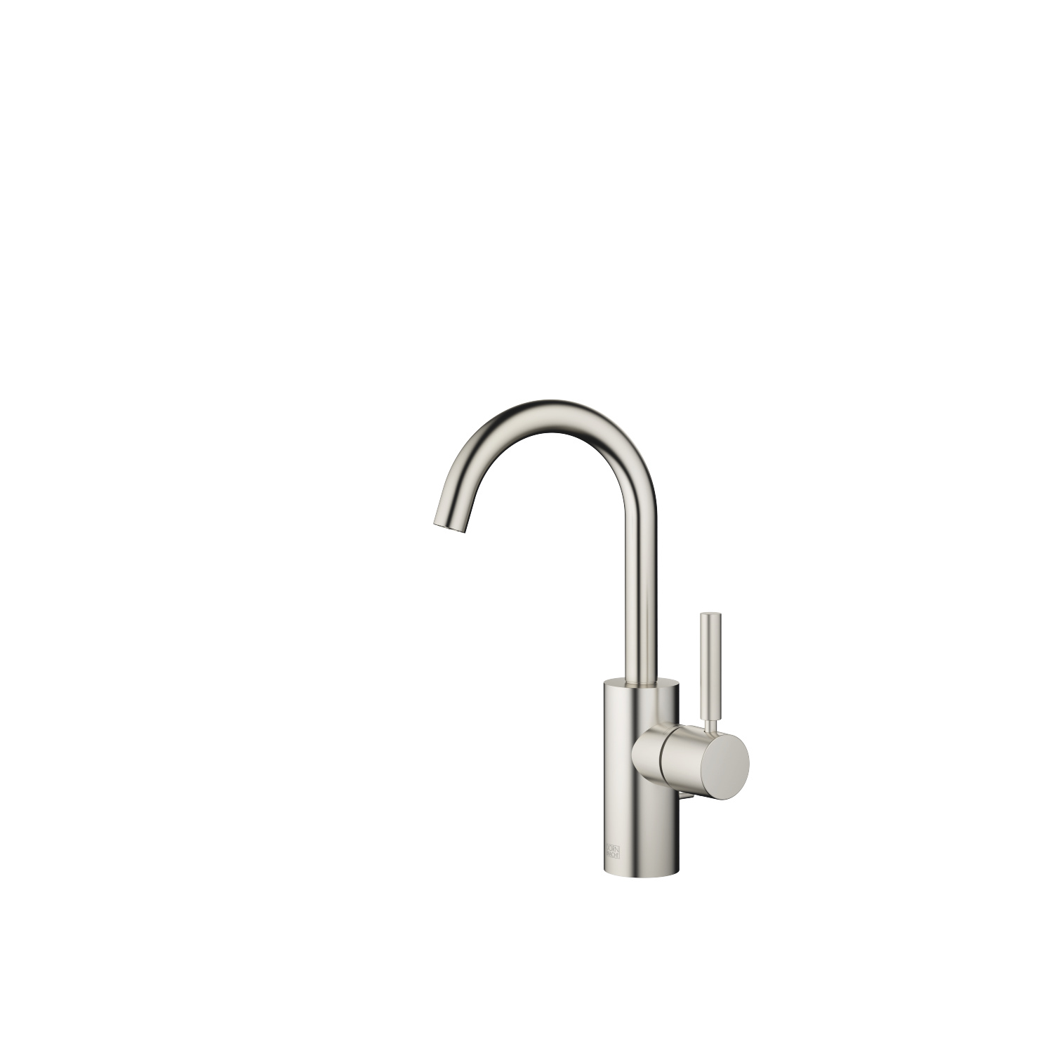 Single-lever lavatory mixer with drain - platinum matte - 33 510 661-06 0010