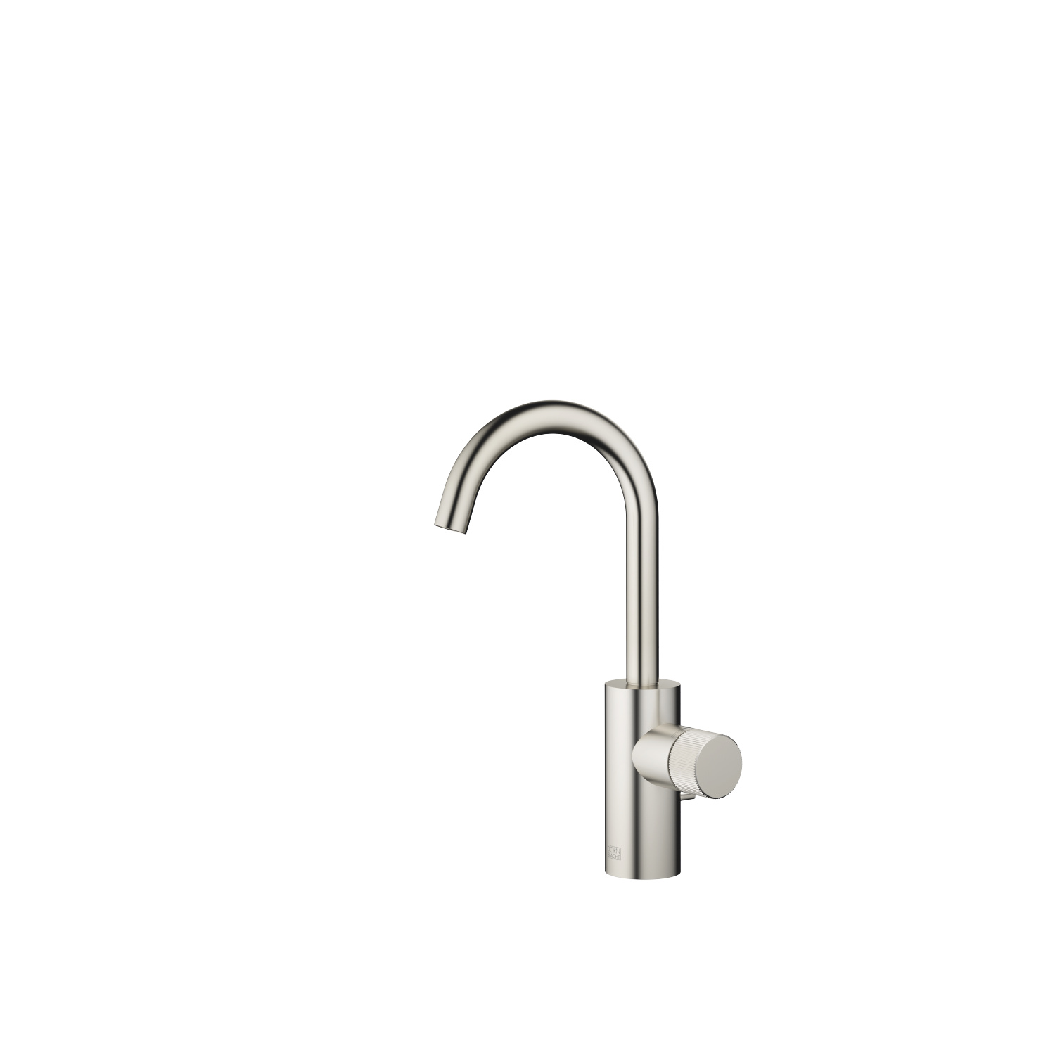 META PURE Single-lever basin mixer with pop-up waste - platinum matt