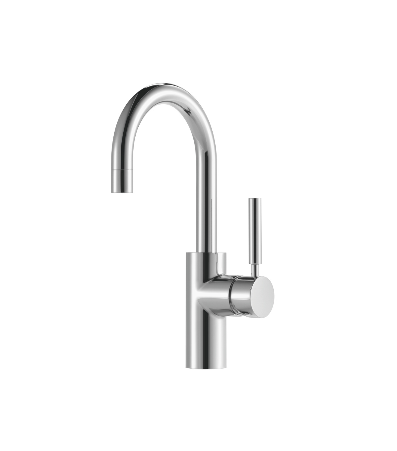 Single-lever basin mixer with pop-up waste - polished chrome - 33 510 885-00