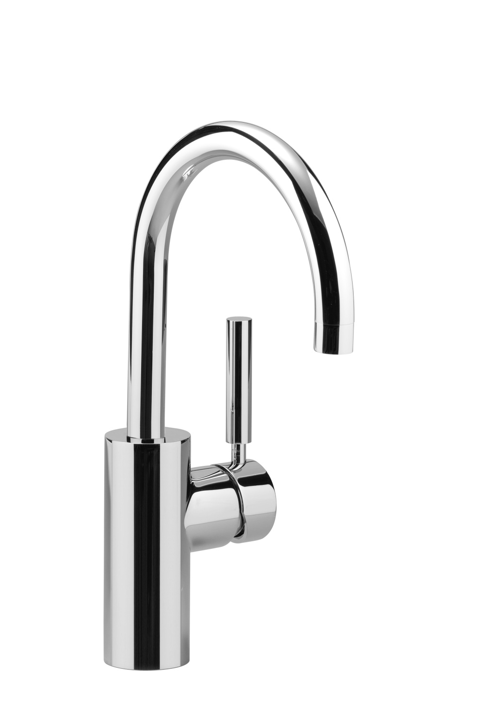 Single-lever basin mixer without pop-up waste - platinum matt - 33 520 885-06