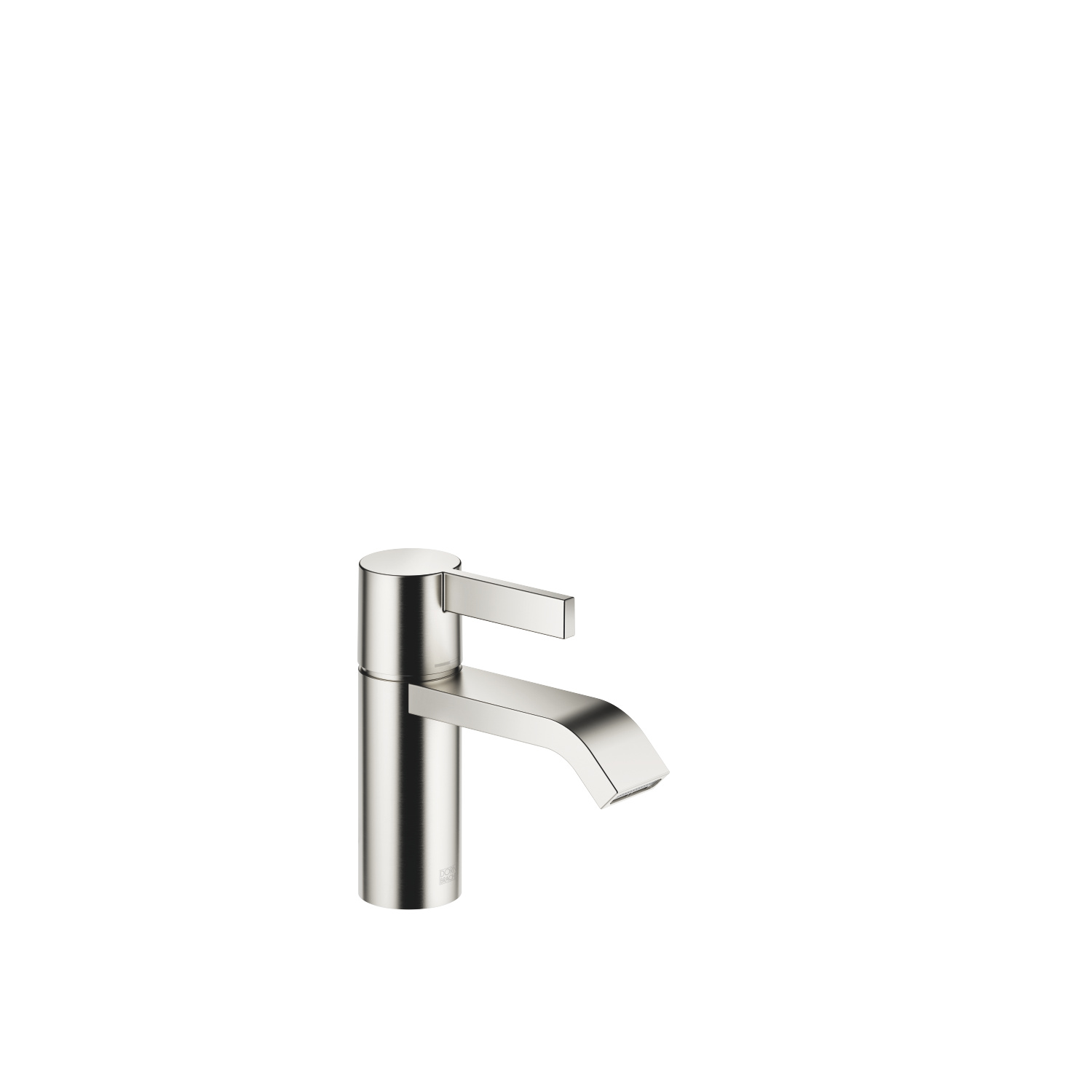 Single-lever basin mixer without pop-up waste - platinum matt - 33 521 670-06