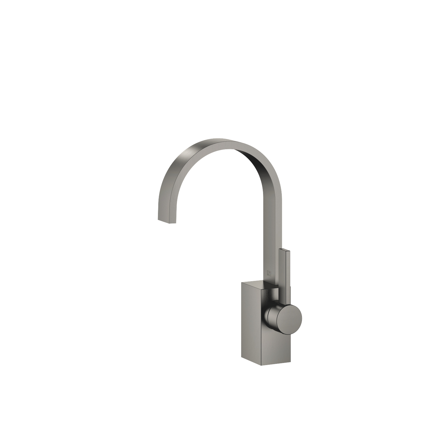Single-lever basin mixer without pop-up waste - Dark Platinum matt
