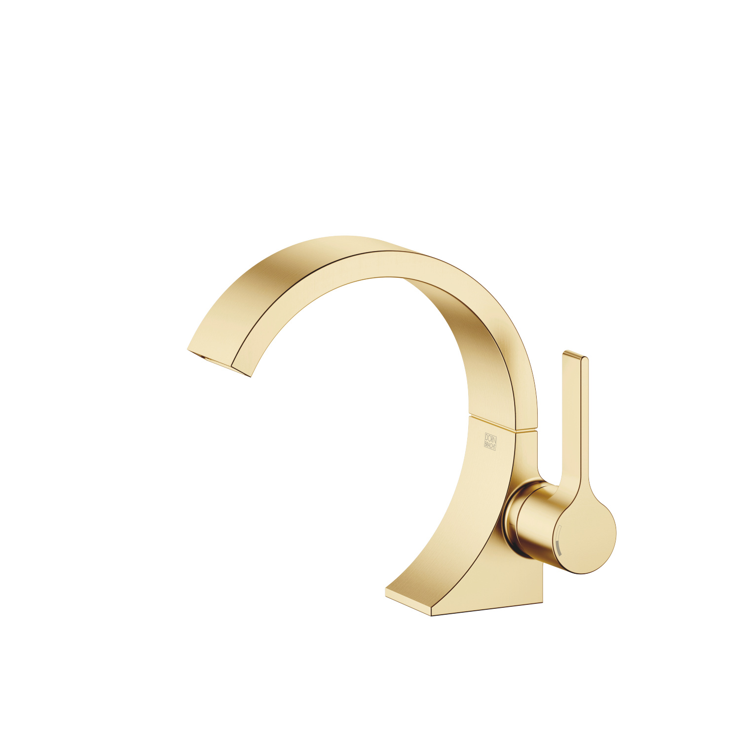 Single-lever lavatory mixer without drain - Brushed Durabrass