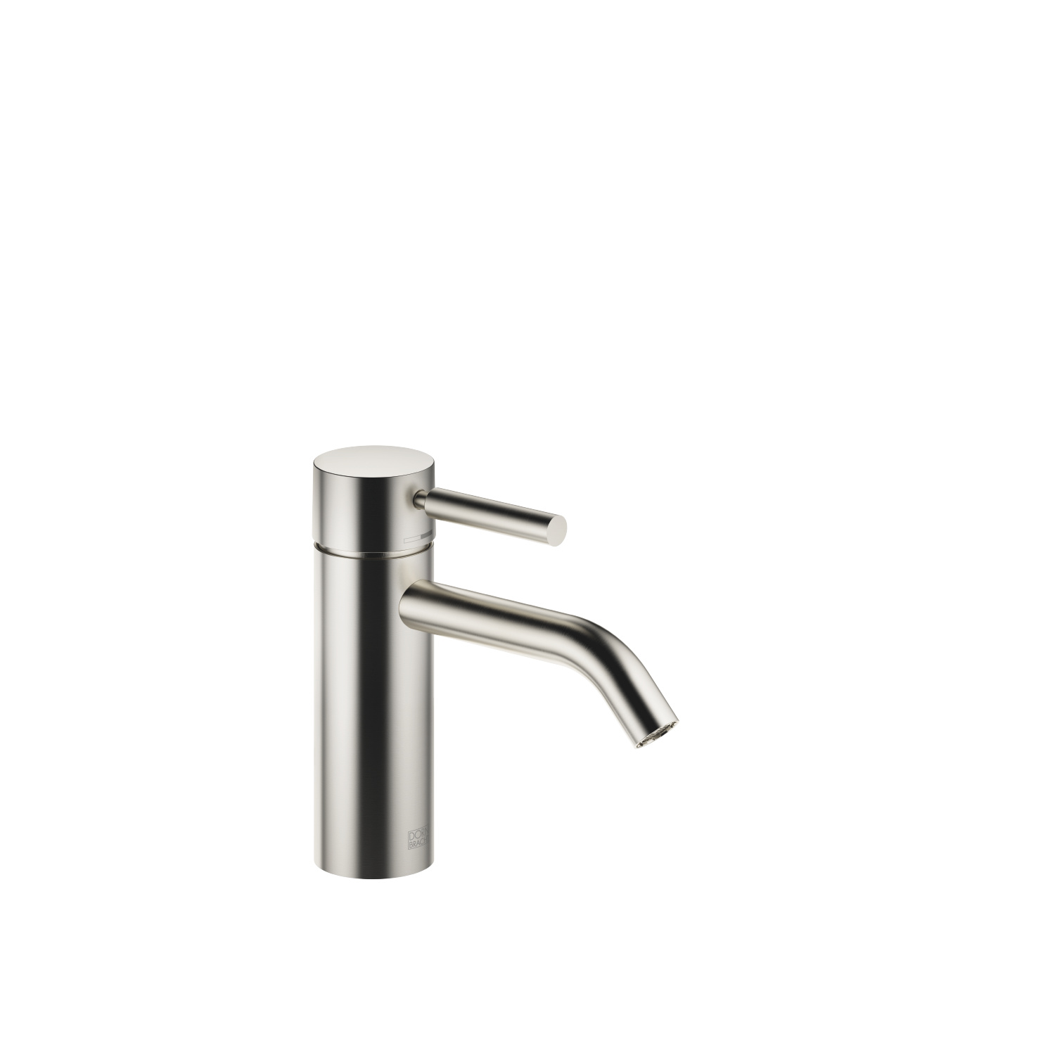 Single-lever lavatory mixer without drain - platinum matte