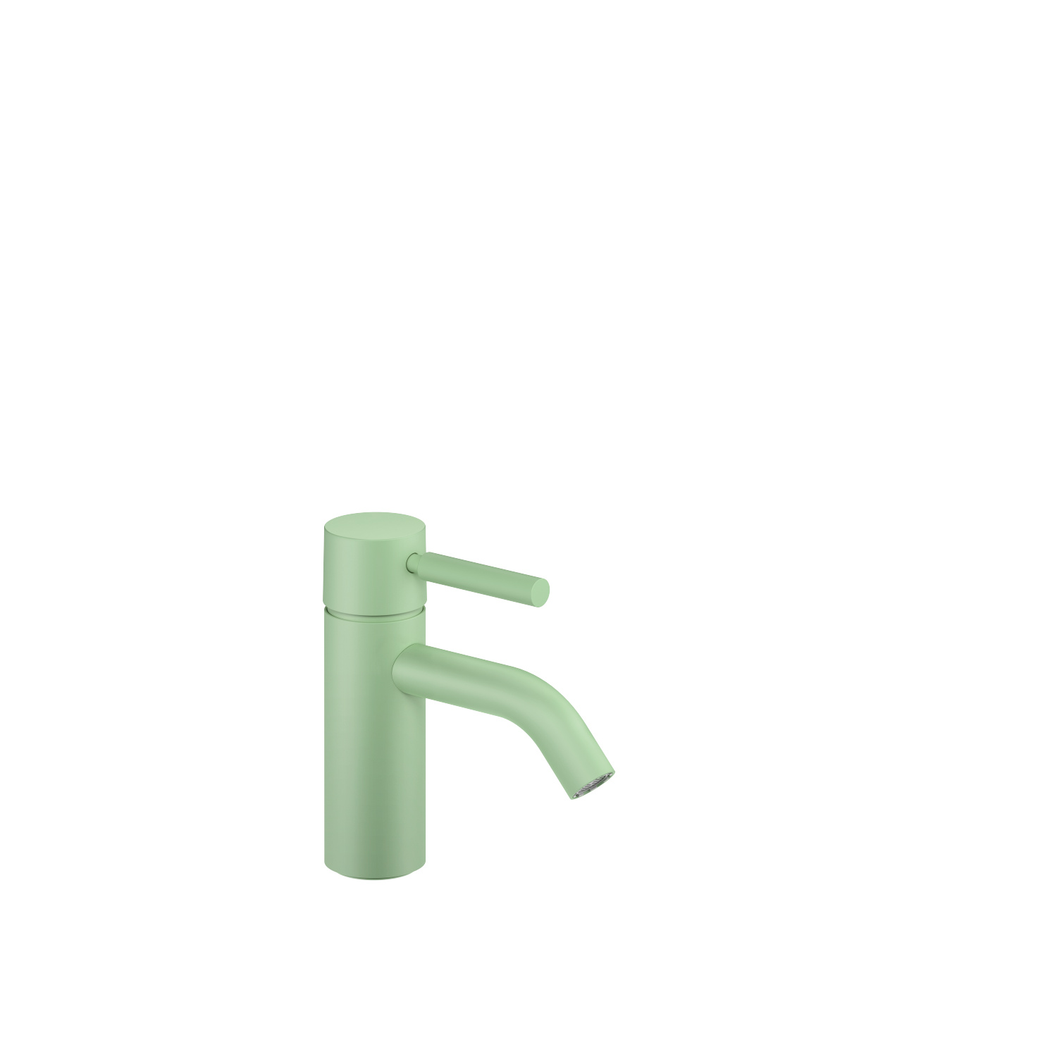 Single-lever basin mixer without pop-up waste - pastel green
