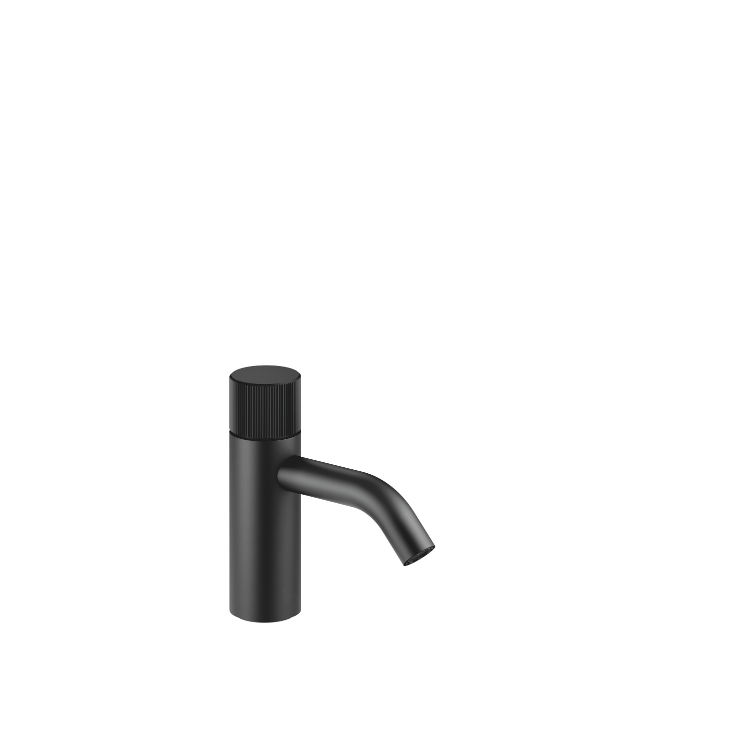 META PURE Single-lever basin mixer without pop-up waste - matt black