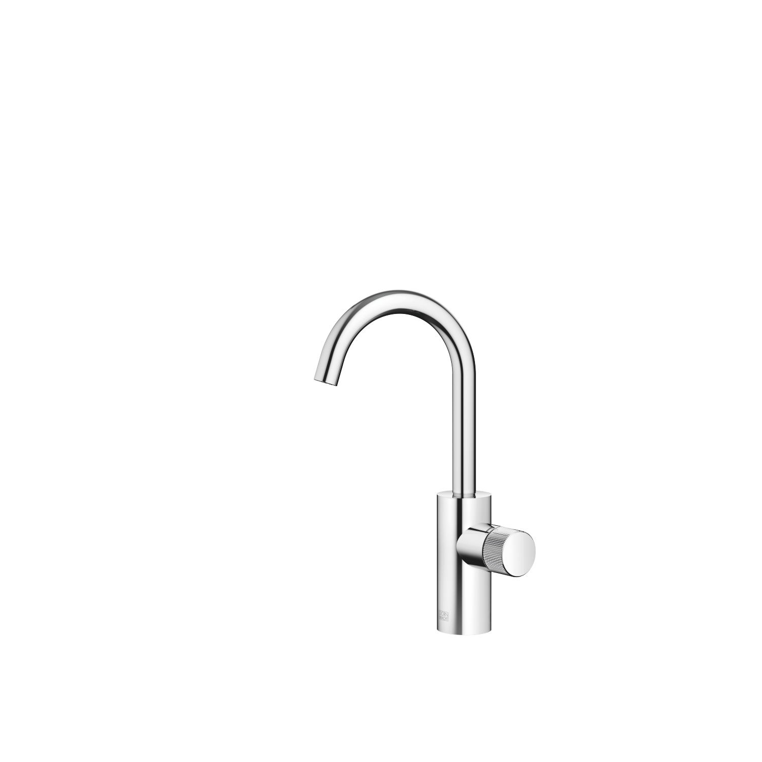META PURE Single-lever basin mixer without pop-up waste - polished chrome