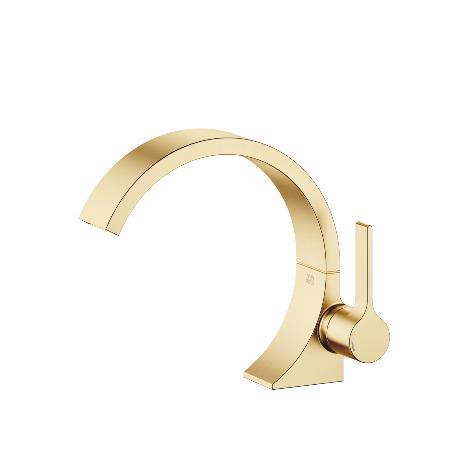 Single-lever basin mixer without pop-up waste - brushed Durabrass
