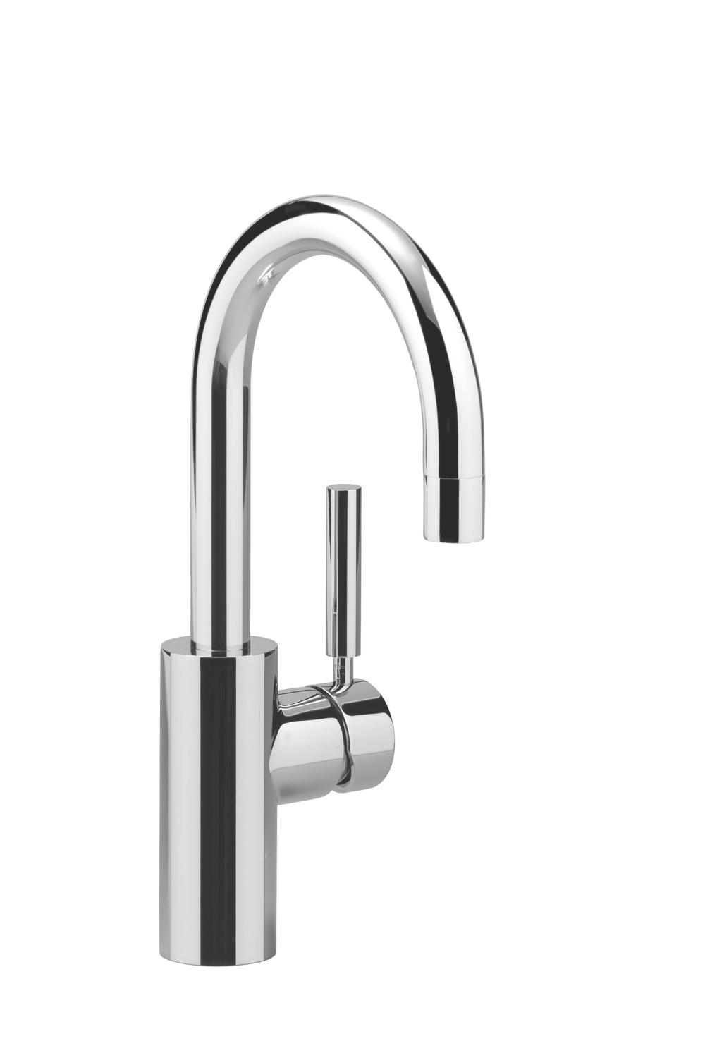 Single-lever basin mixer without pop-up waste - polished chrome - 33 525 885-00