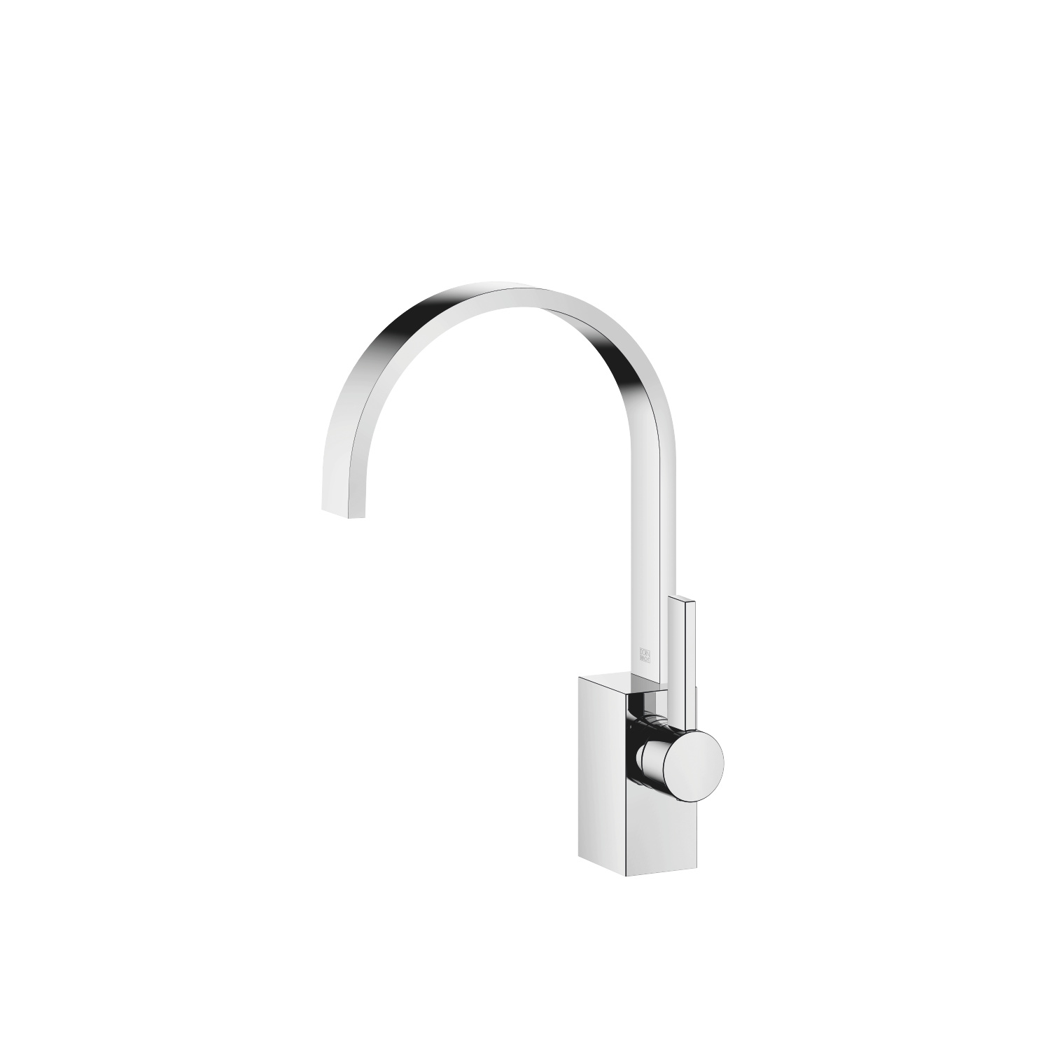 Single-lever basin mixer without pop-up waste - polished chrome
