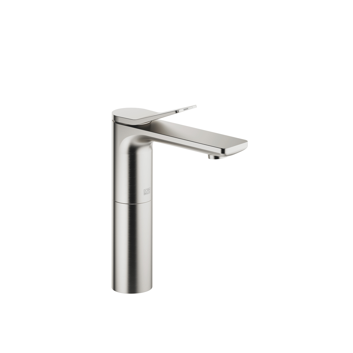 Single-lever basin mixer with high spout without pop-up waste - platinum matt - 33 526 845-06