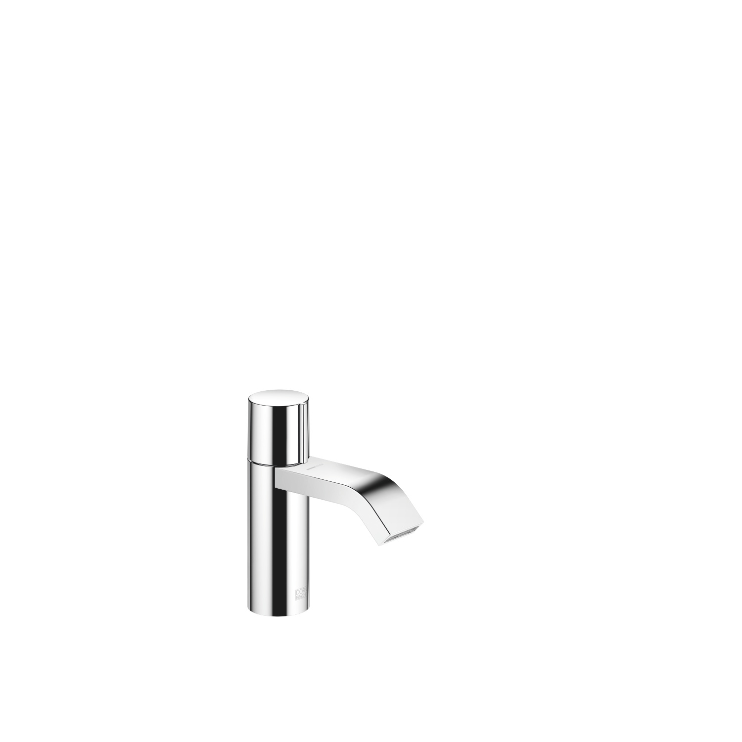 Single-lever lavatory mixer without drain - polished chrome