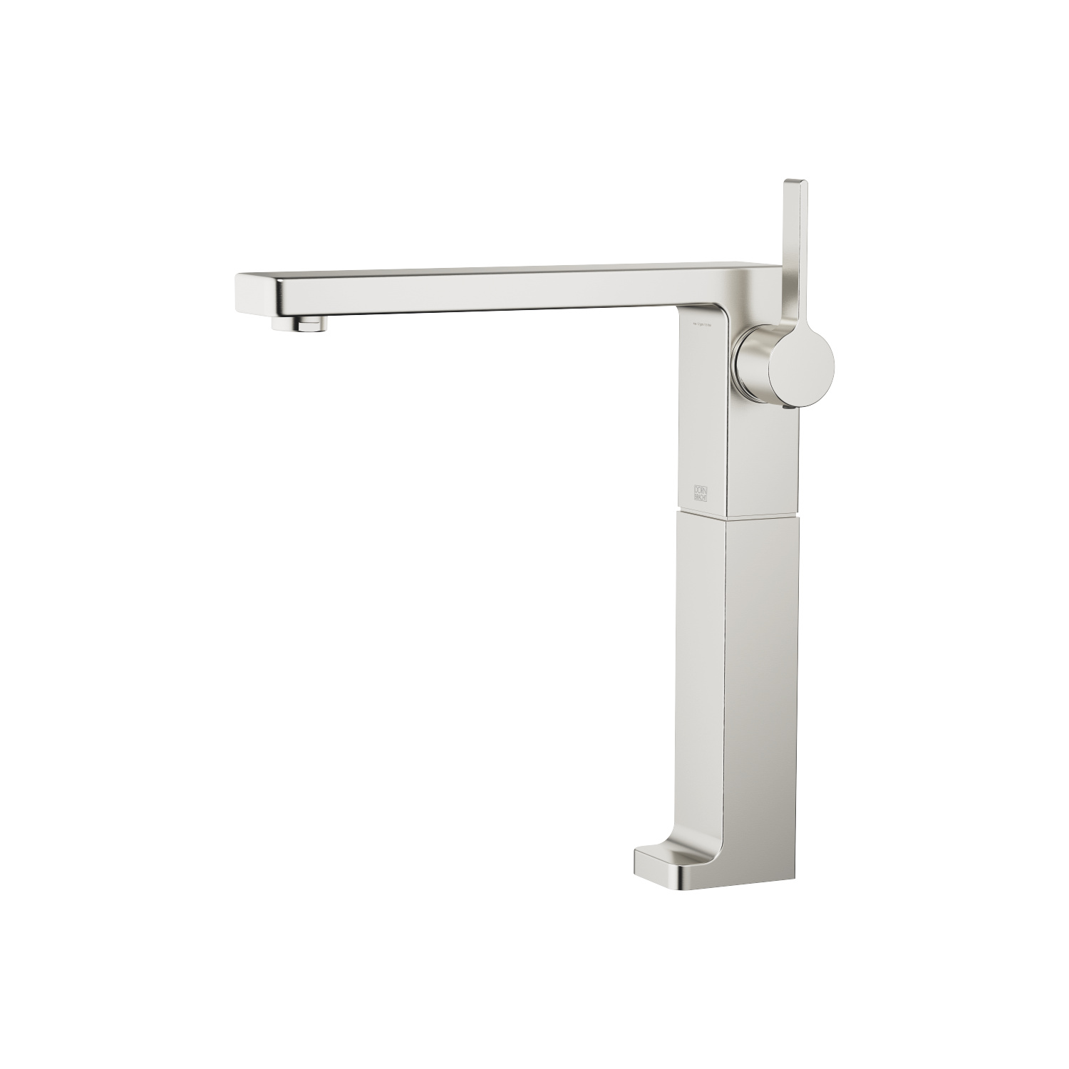 Single-lever basin mixer with raised base without pop-up waste - platinum matt - 33 534 710-06