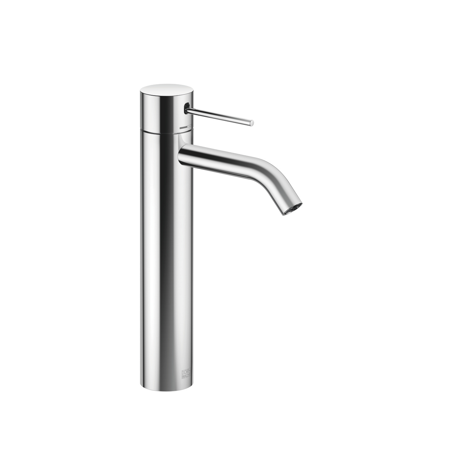 META SLIM Single-lever basin mixer with raised base without pop-up waste - polished chrome - 33 537 662-00