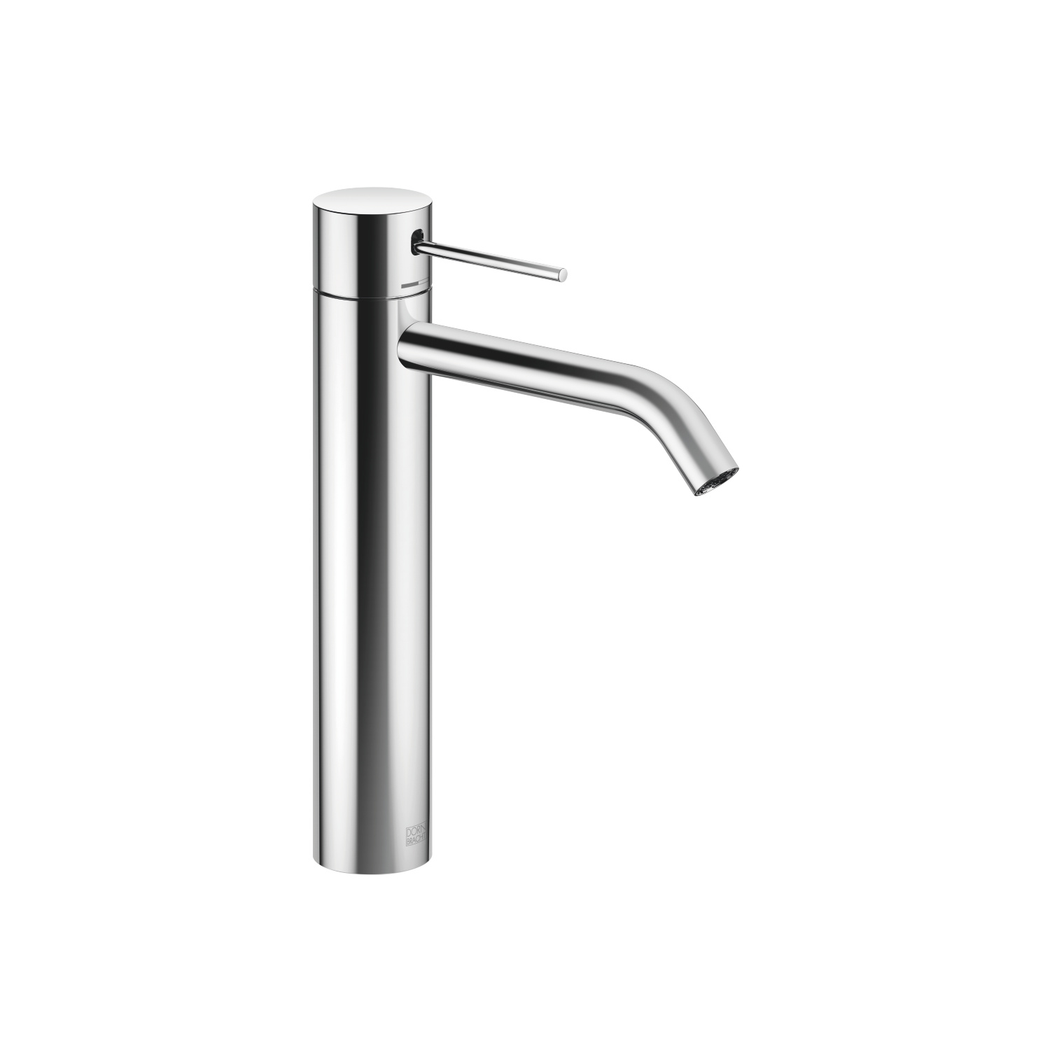 META SLIM Single-lever basin mixer with raised base without pop-up waste - polished chrome
