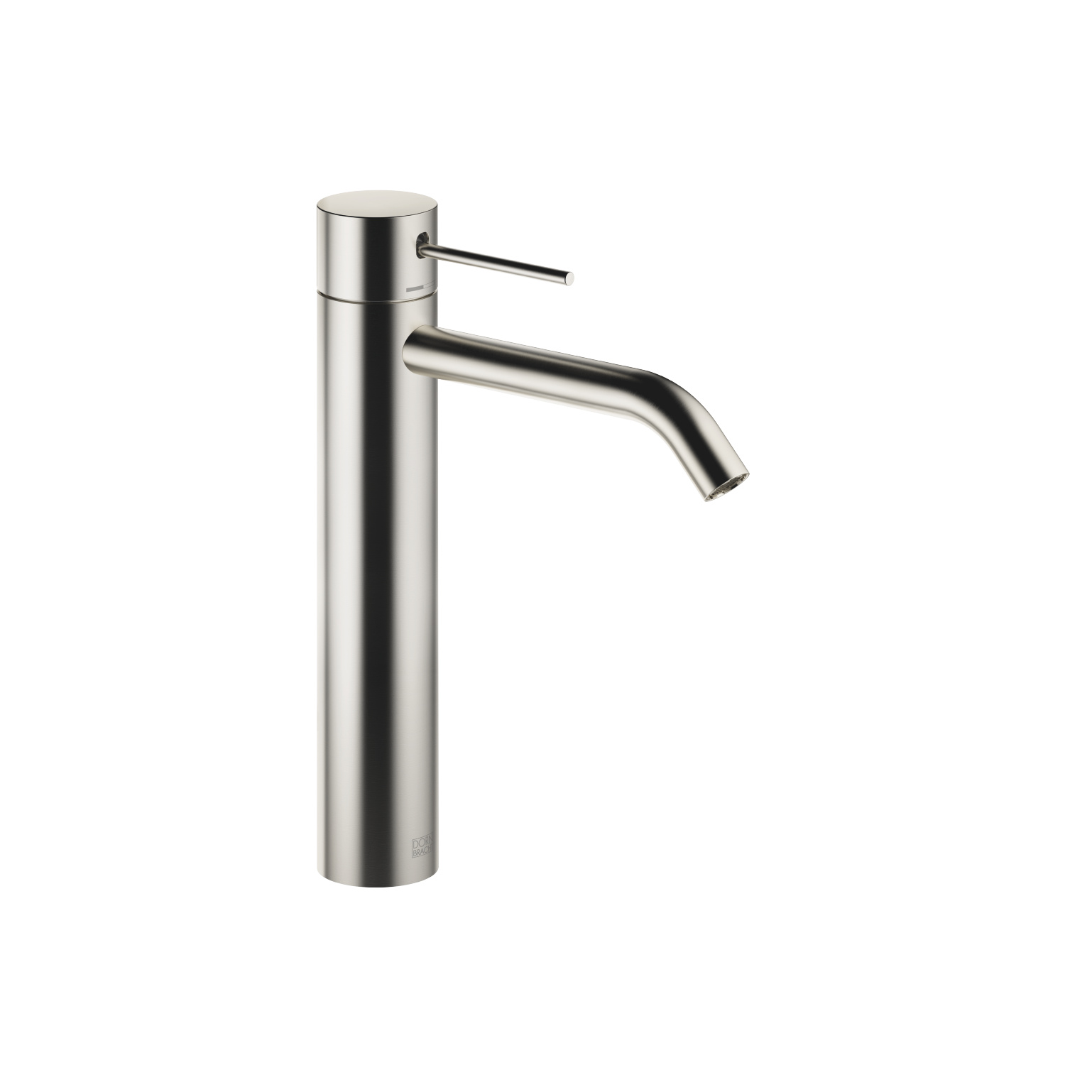 META SLIM Single-lever basin mixer with raised base without pop-up waste - platinum matt