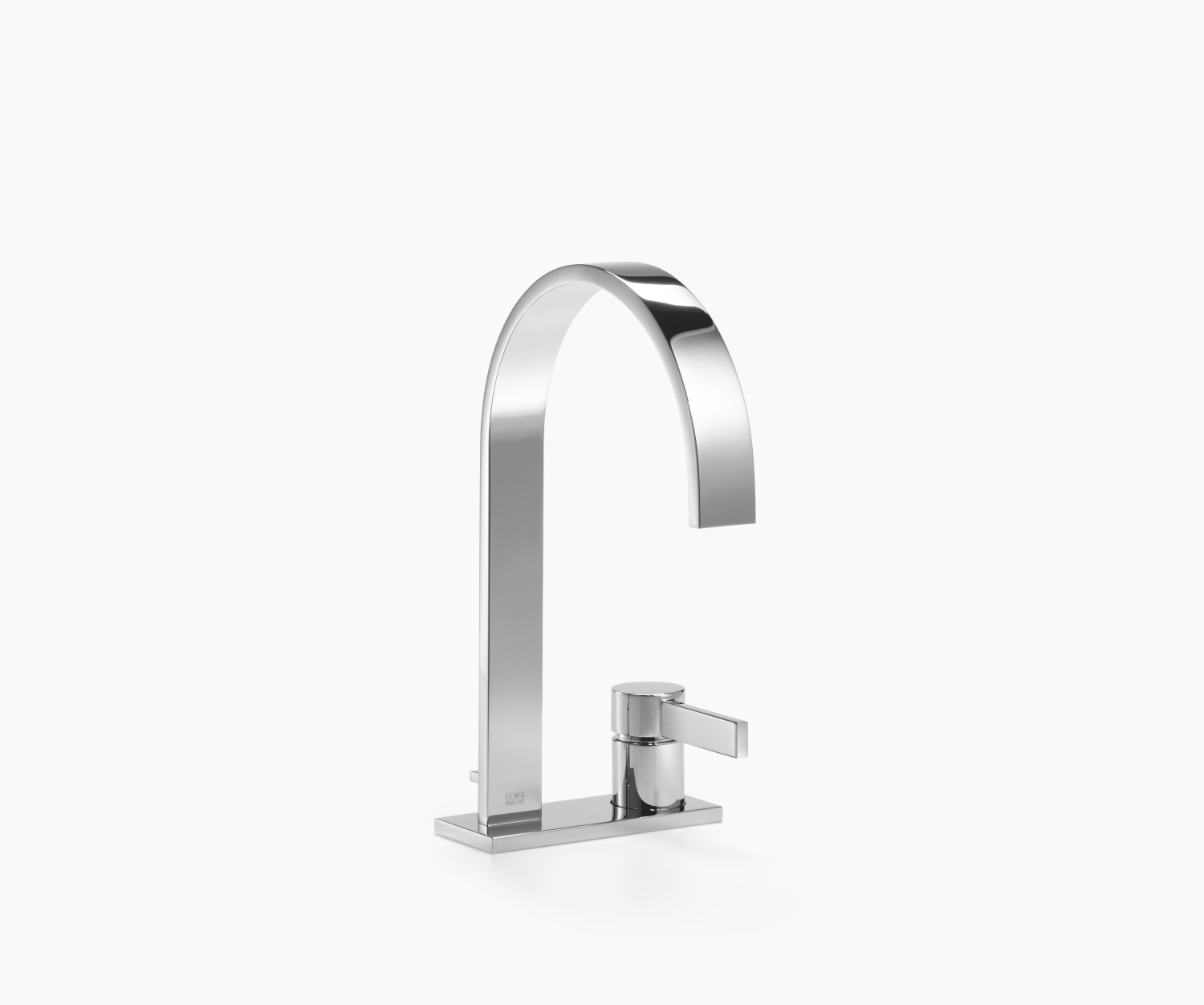 two-hole basin mixer with cover plate with pop-up waste - platinum matt