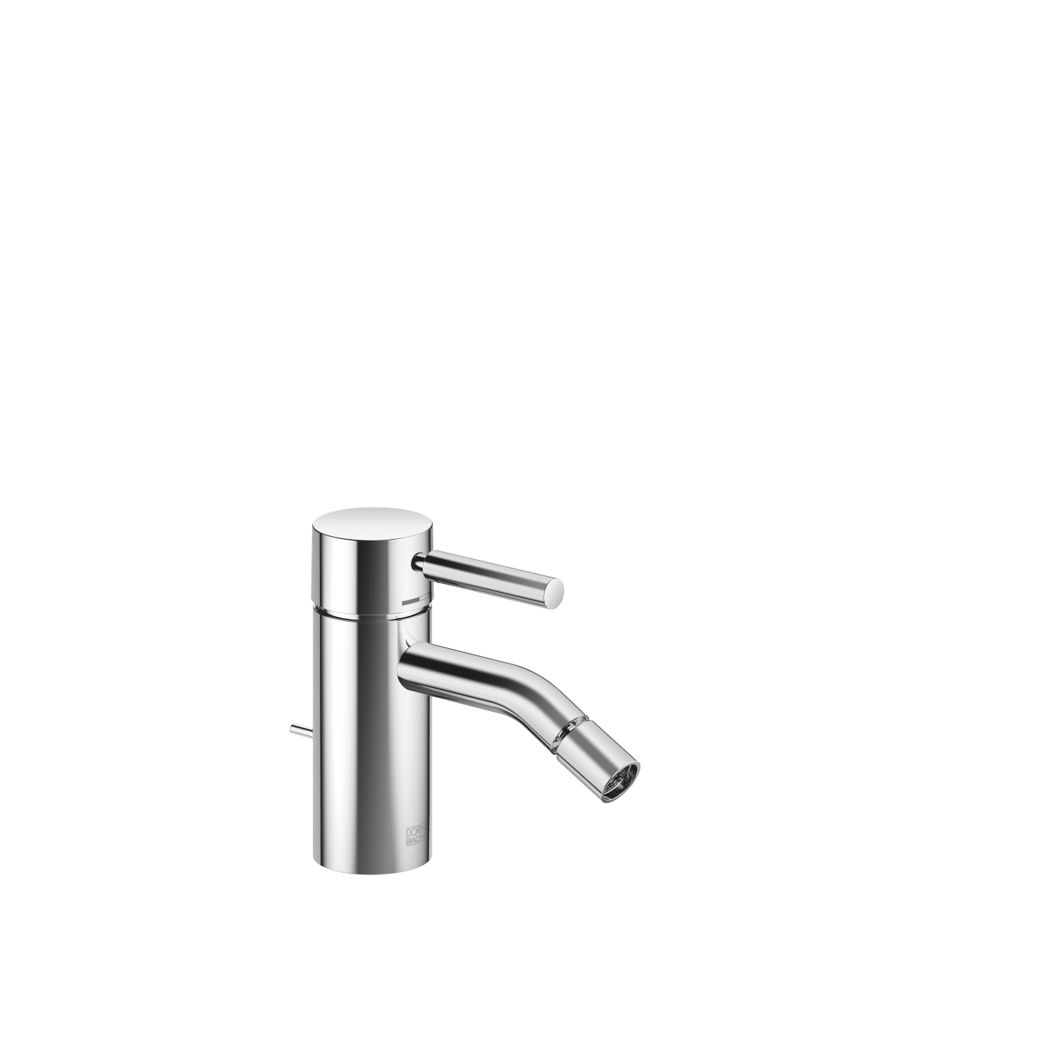 Single-lever bidet mixer with drain - polished chrome