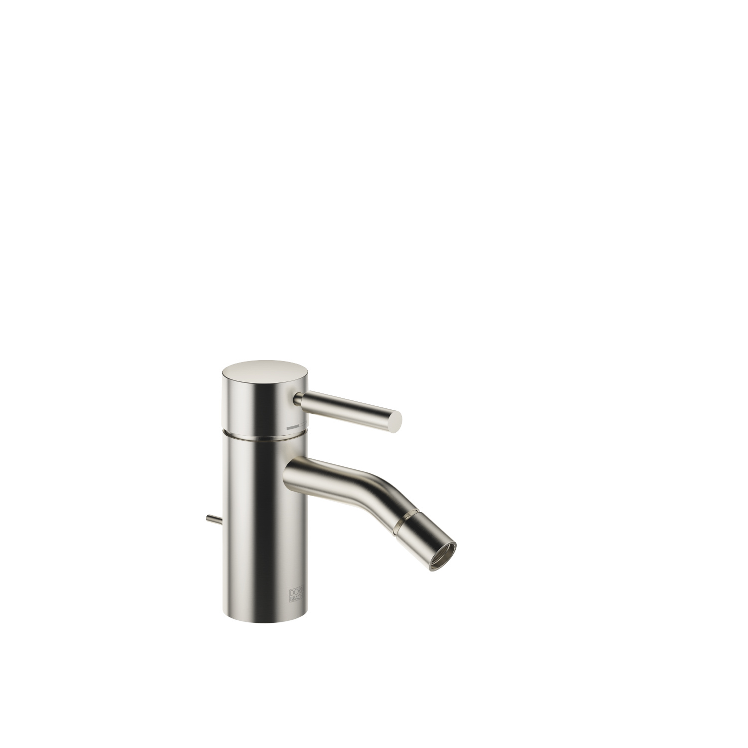 Single-lever bidet mixer with pop-up waste - platinum matt - 33 600 660-06
