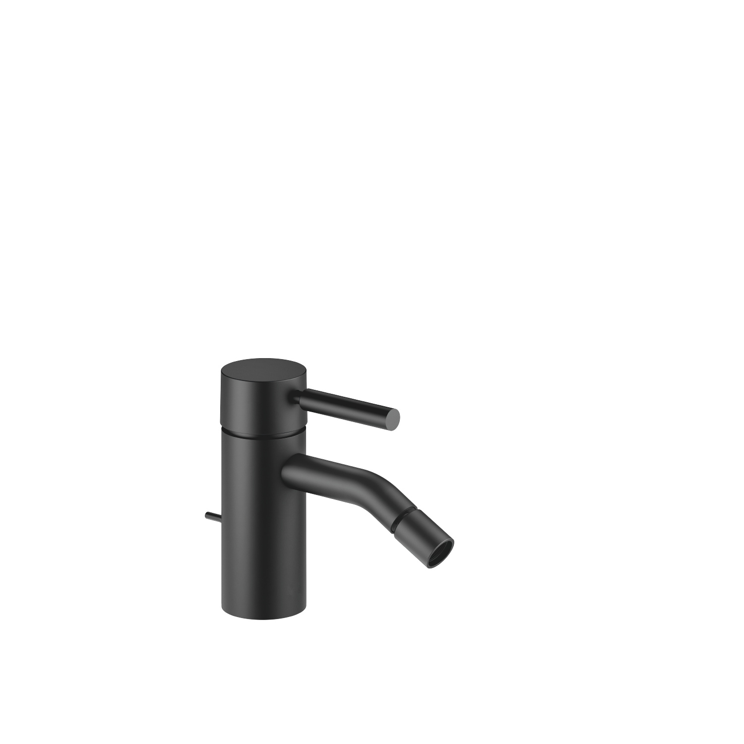 Single-lever bidet mixer with pop-up waste - matt black