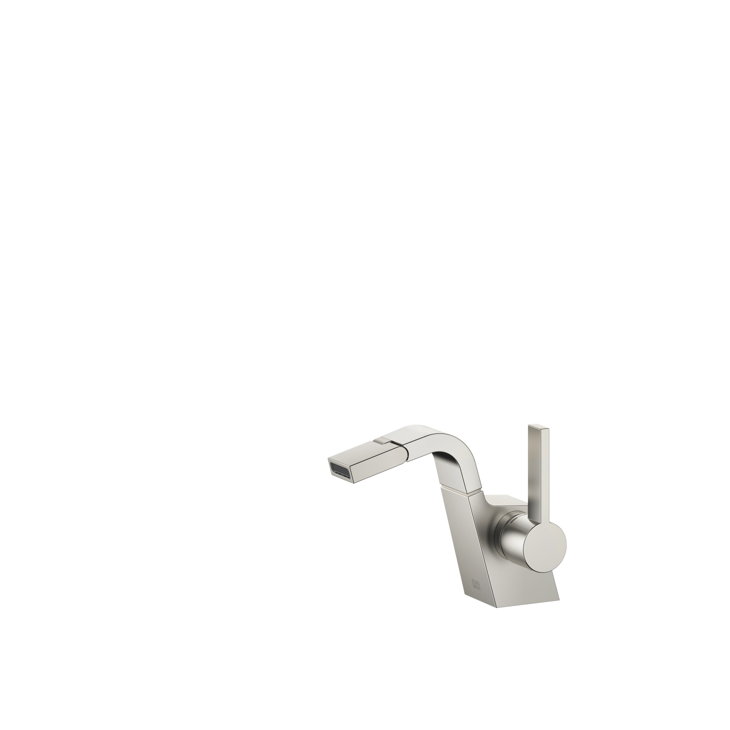 Single-lever bidet mixer without pop-up waste - platinum matt