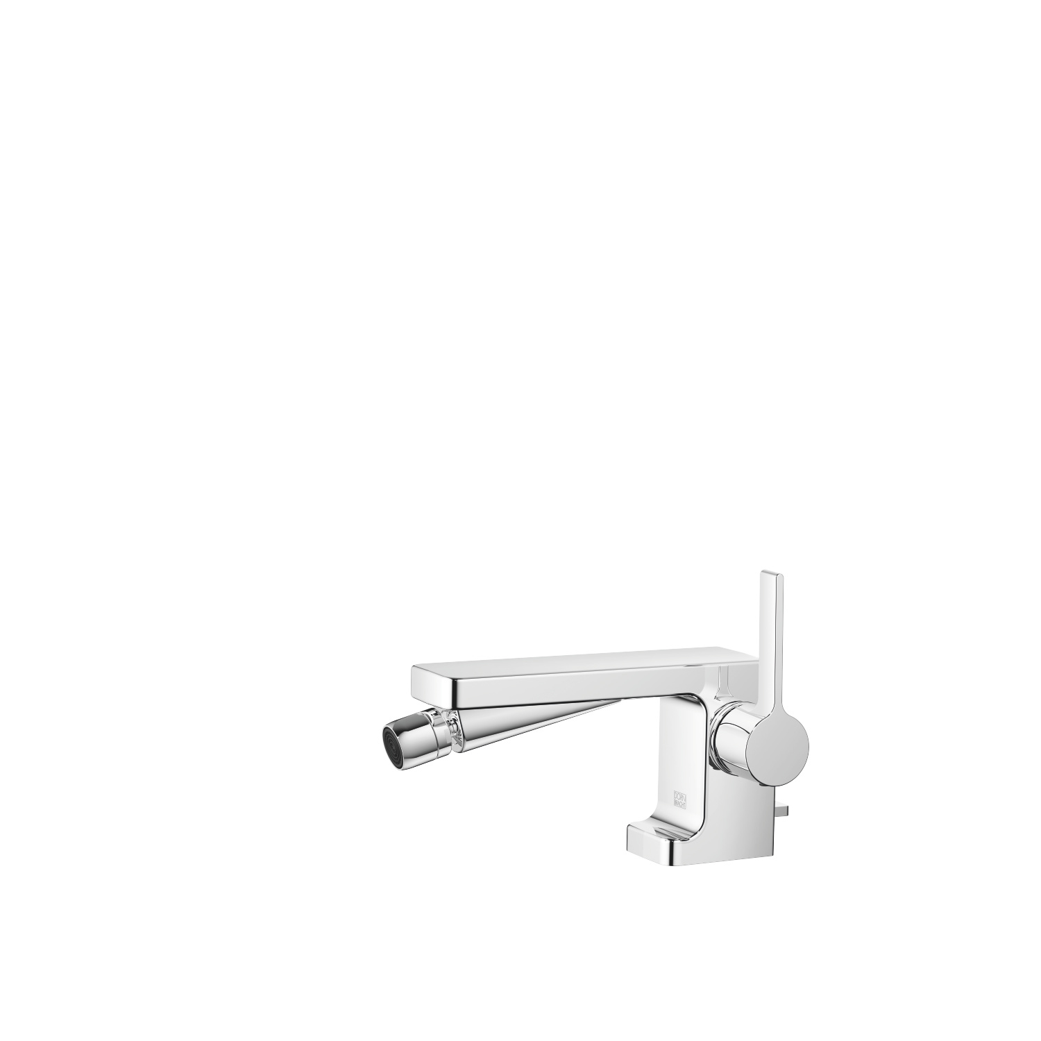 Single-lever bidet mixer with pop-up waste - polished chrome
