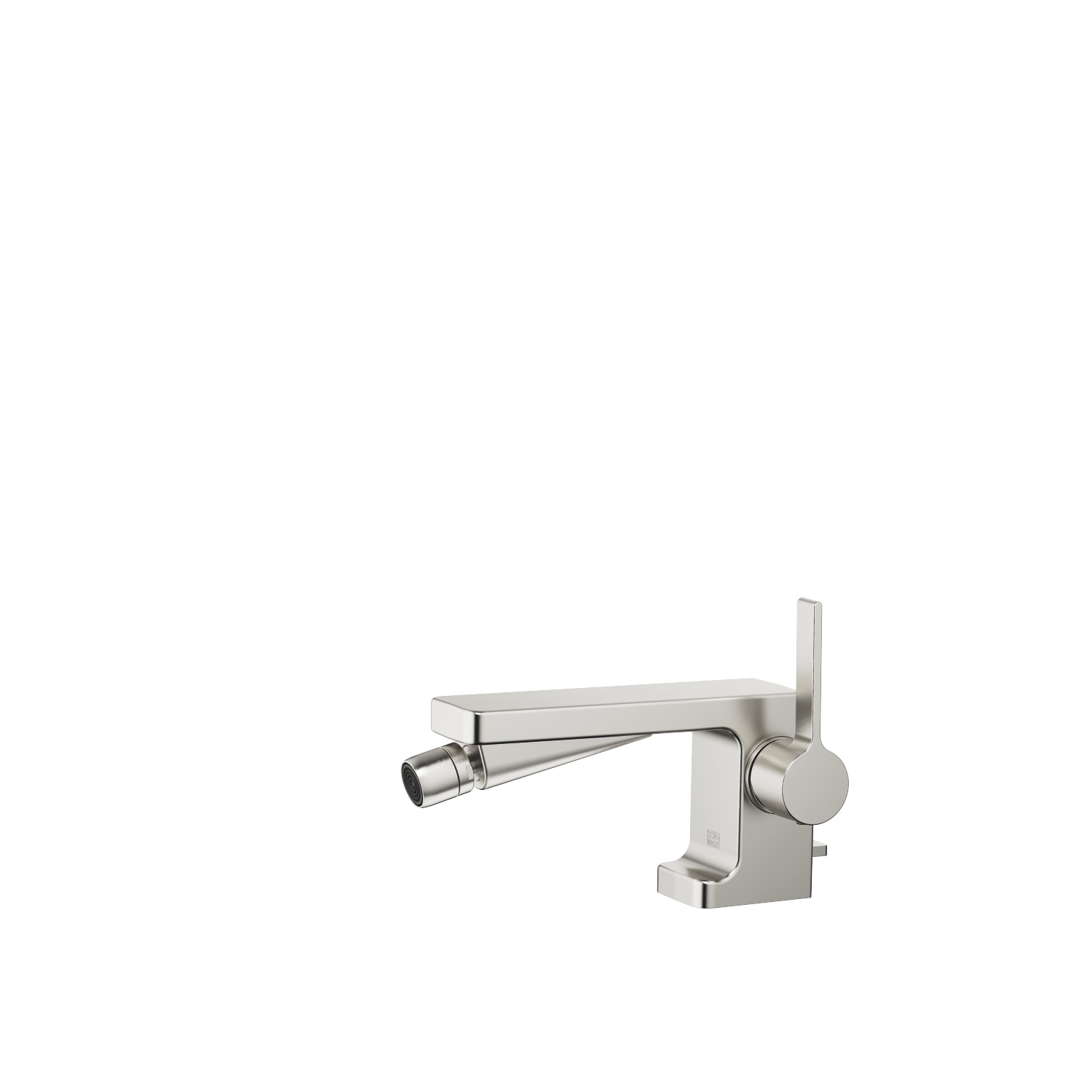 Single-lever bidet mixer with drain - platinum matte