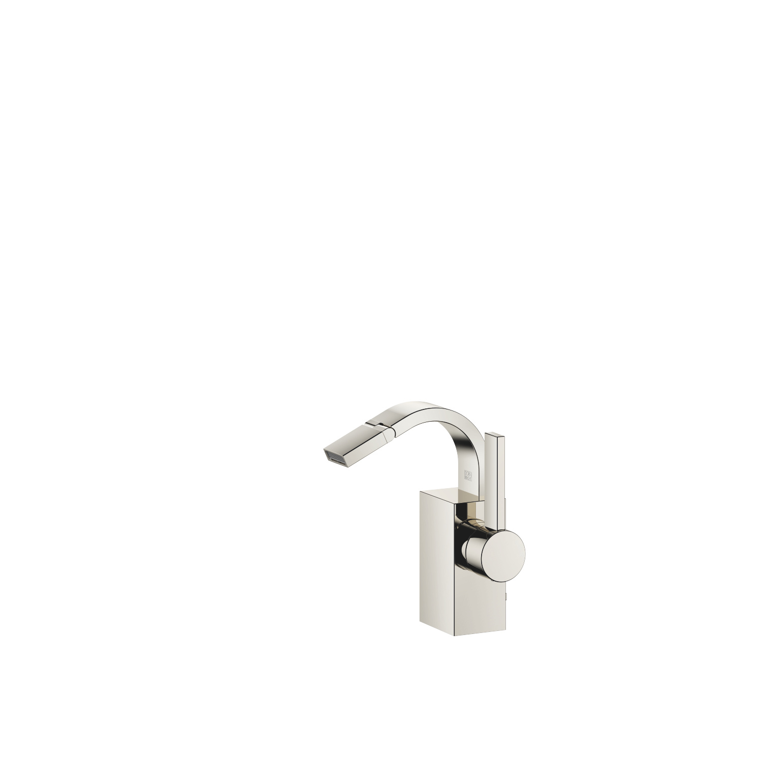 Single-lever bidet mixer with pop-up waste - platinum