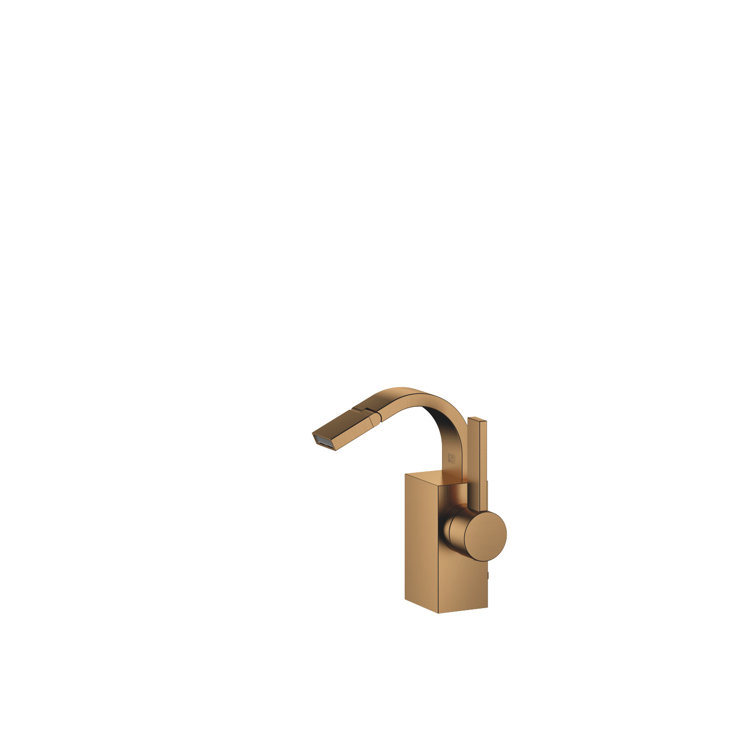 Single-lever bidet mixer with pop-up waste - Dark Brass matt