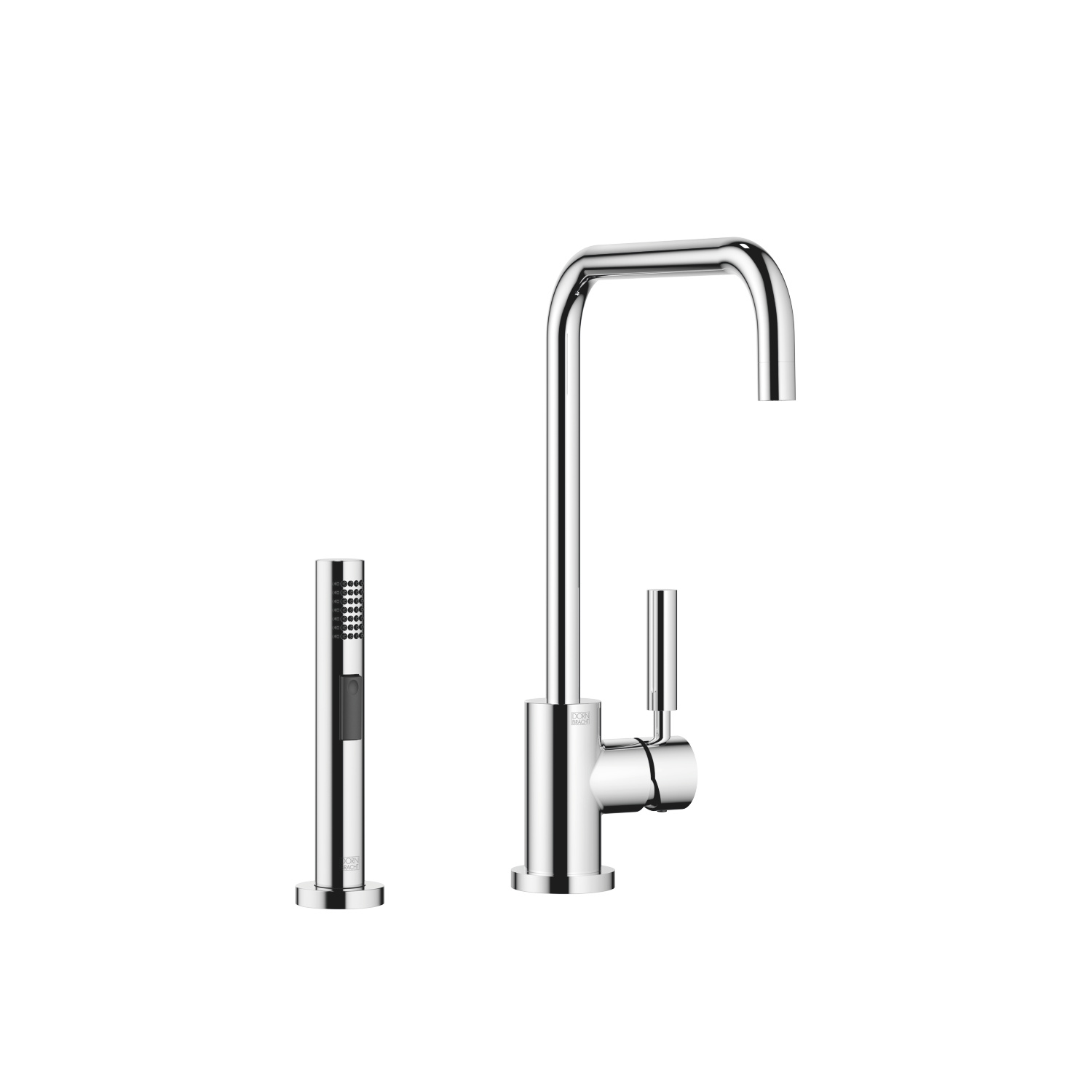 Single-lever mixer with rinsing spray set - polished chrome - 33 820 625-00 + 27 721 970-00
