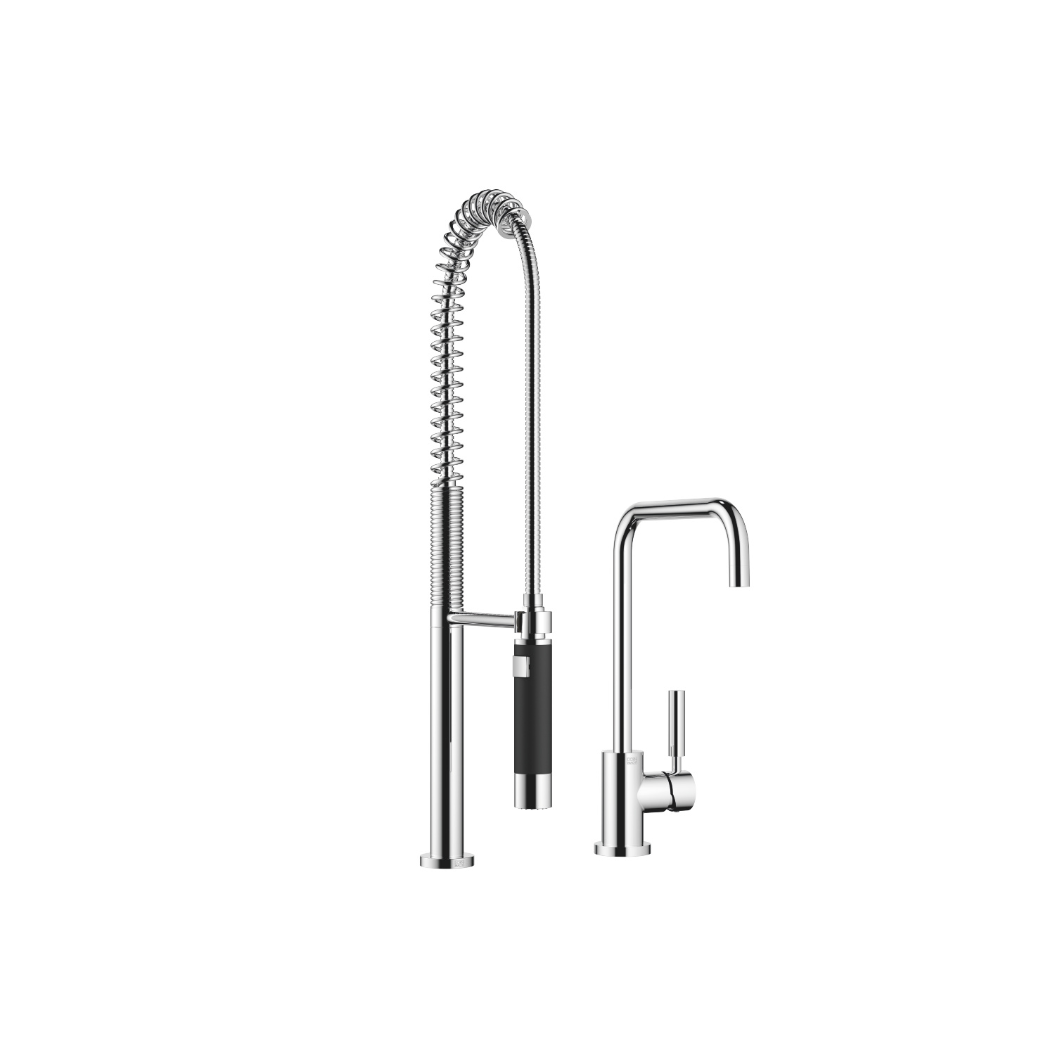 Single-lever mixer with profi spray set - polished chrome - 33 820 625-00 + 27 789 970-00