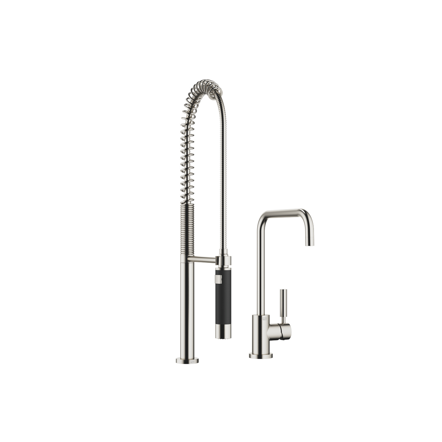 Single-lever mixer with profi spray set - platinum matt