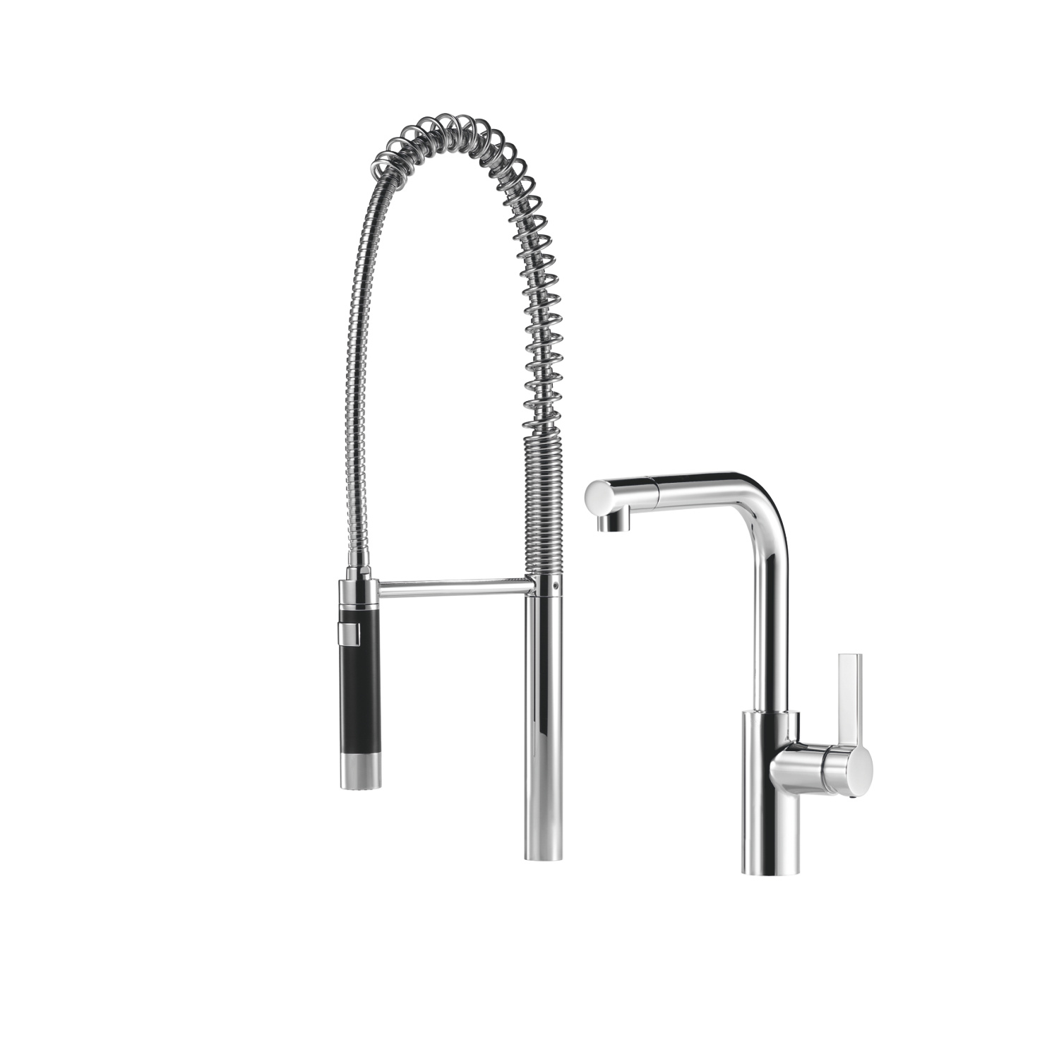 Single-lever mixer with profi spray set - polished chrome
