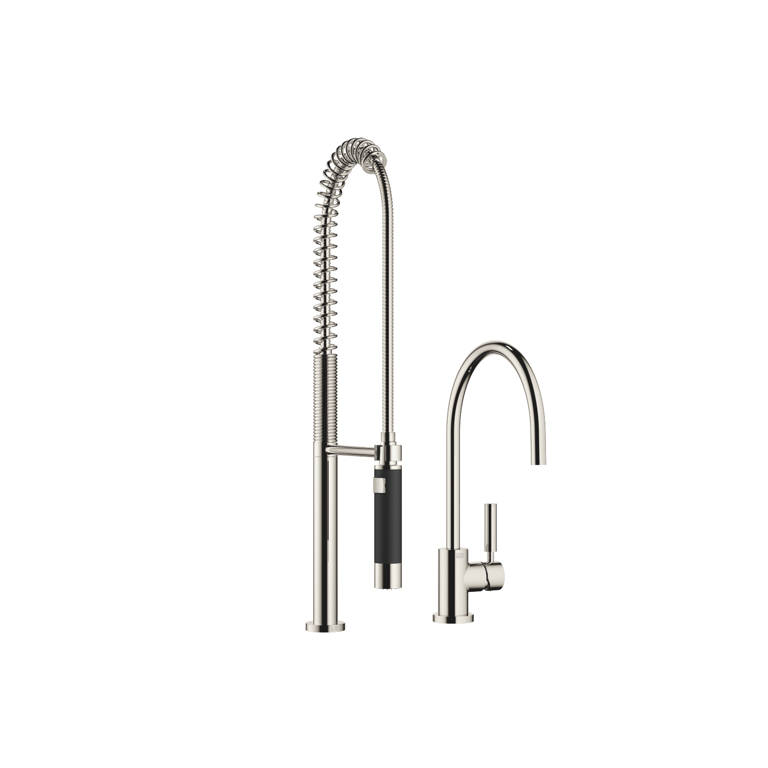 Single-lever mixer with Profi spray set - platinum
