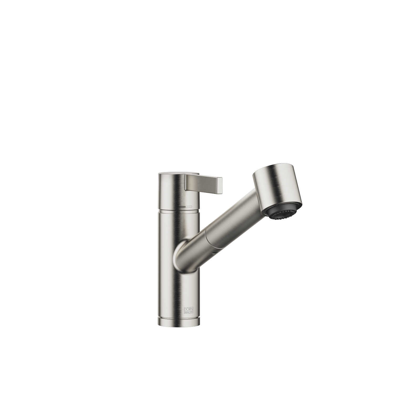 Single-lever mixer Pull-out with spray function - platinum matt