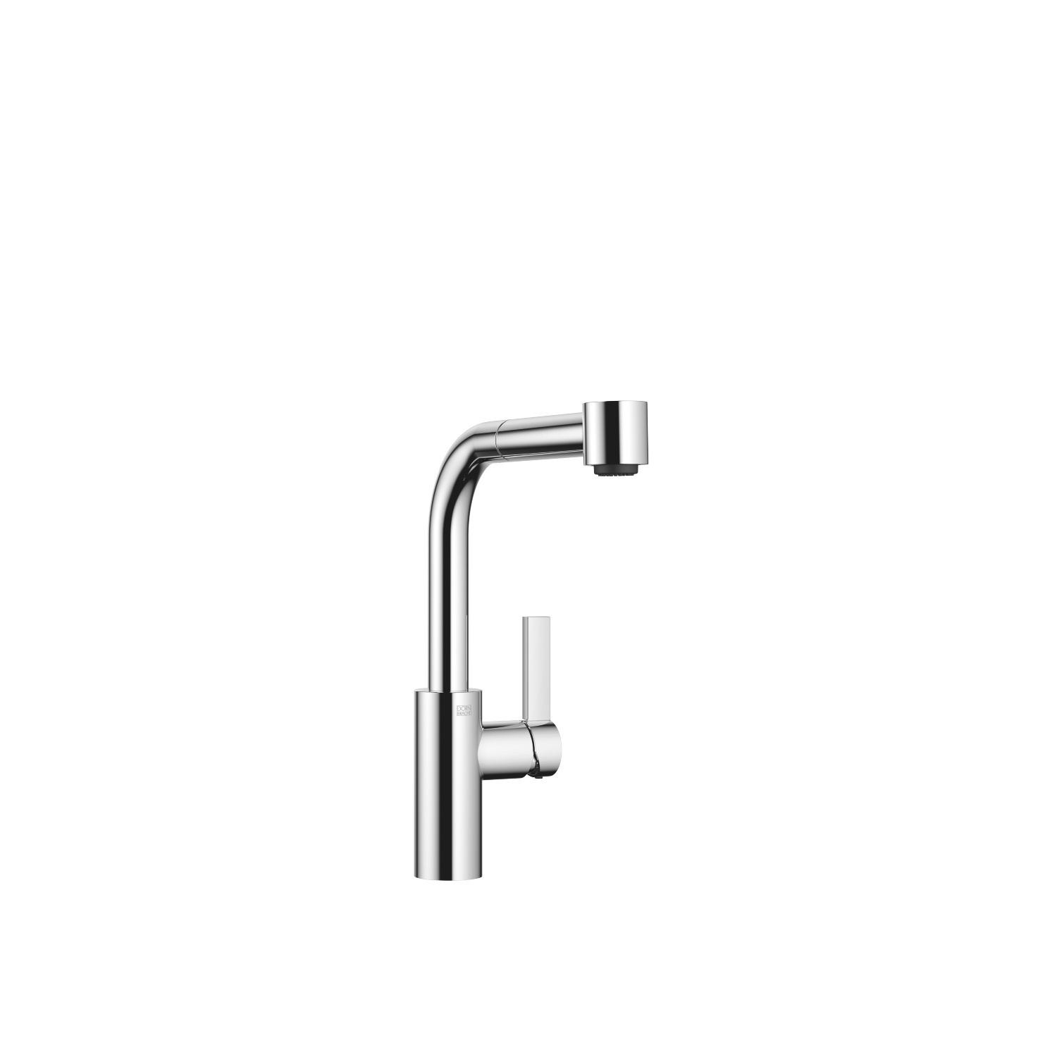 Single-lever mixer with pull-out spout with spray function - polished chrome
