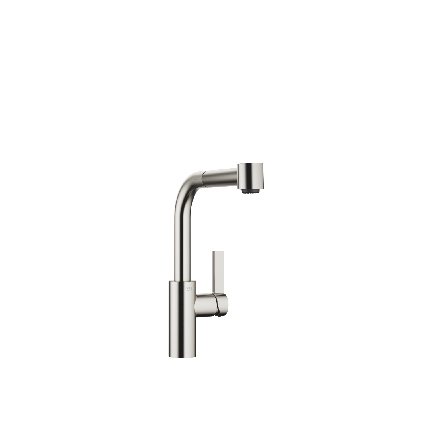Single-lever mixer with pull-out spout with spray function - platinum matte