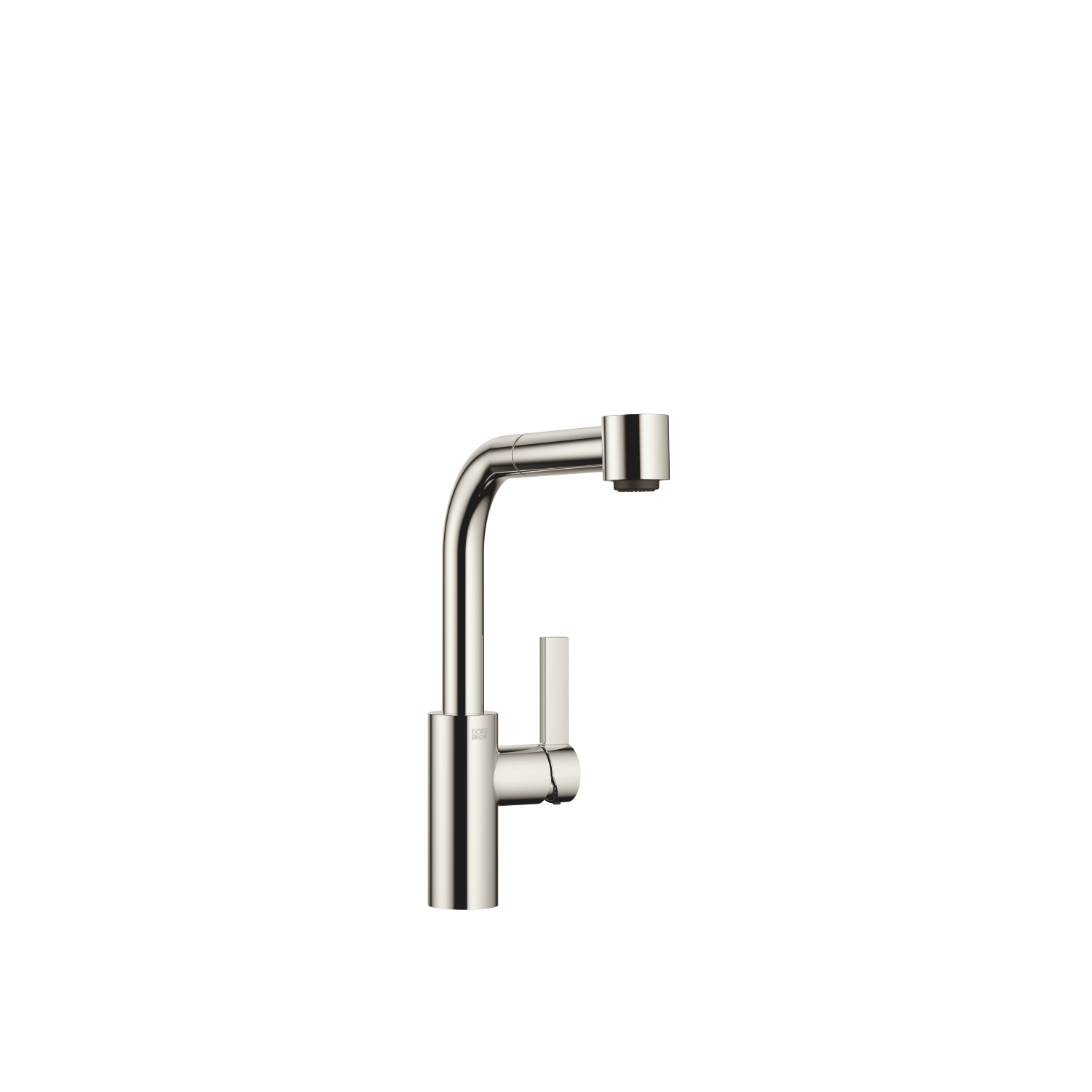 Single-lever mixer Pull-out with spray function - platinum
