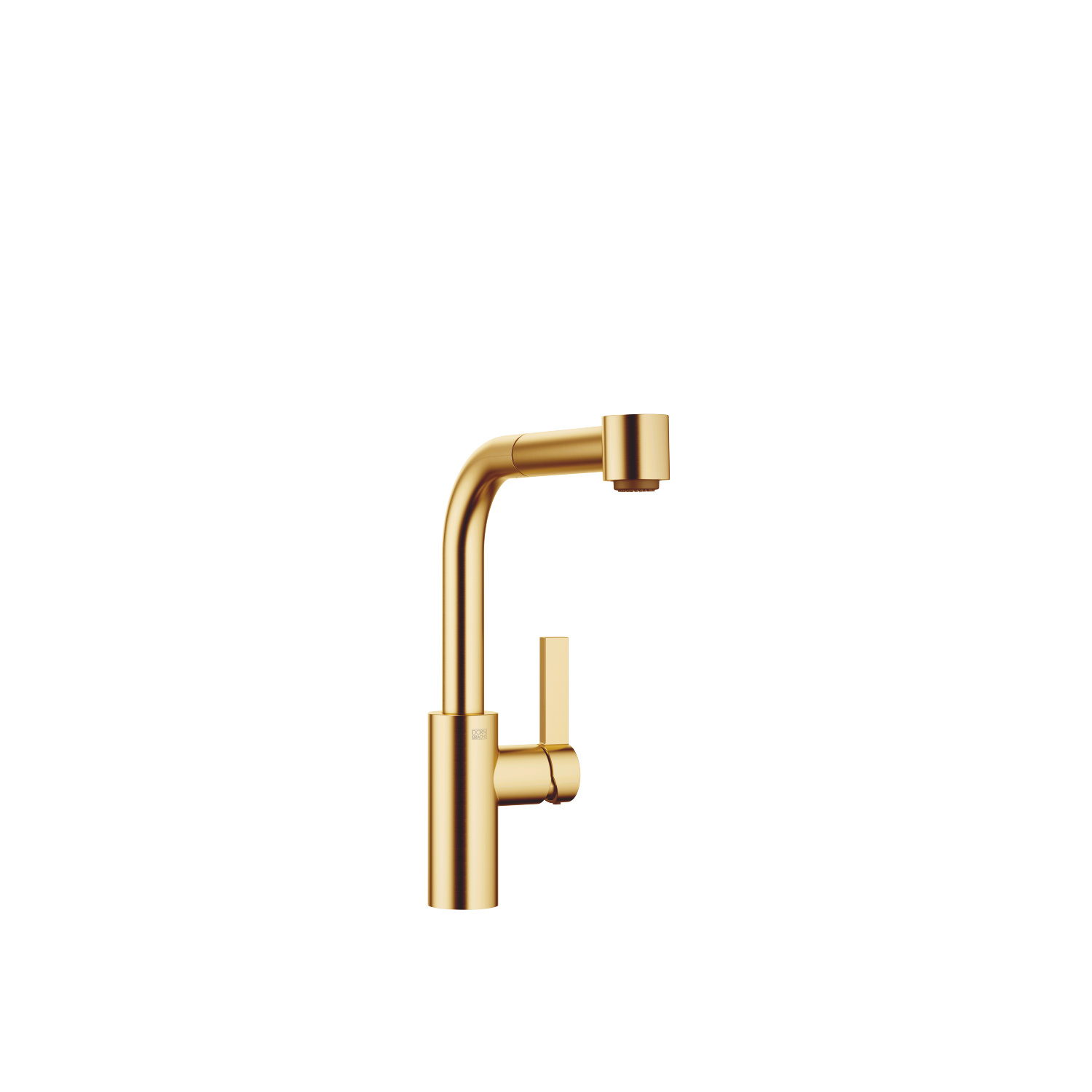 Single-lever mixer Pull-out with spray function - brushed Durabrass