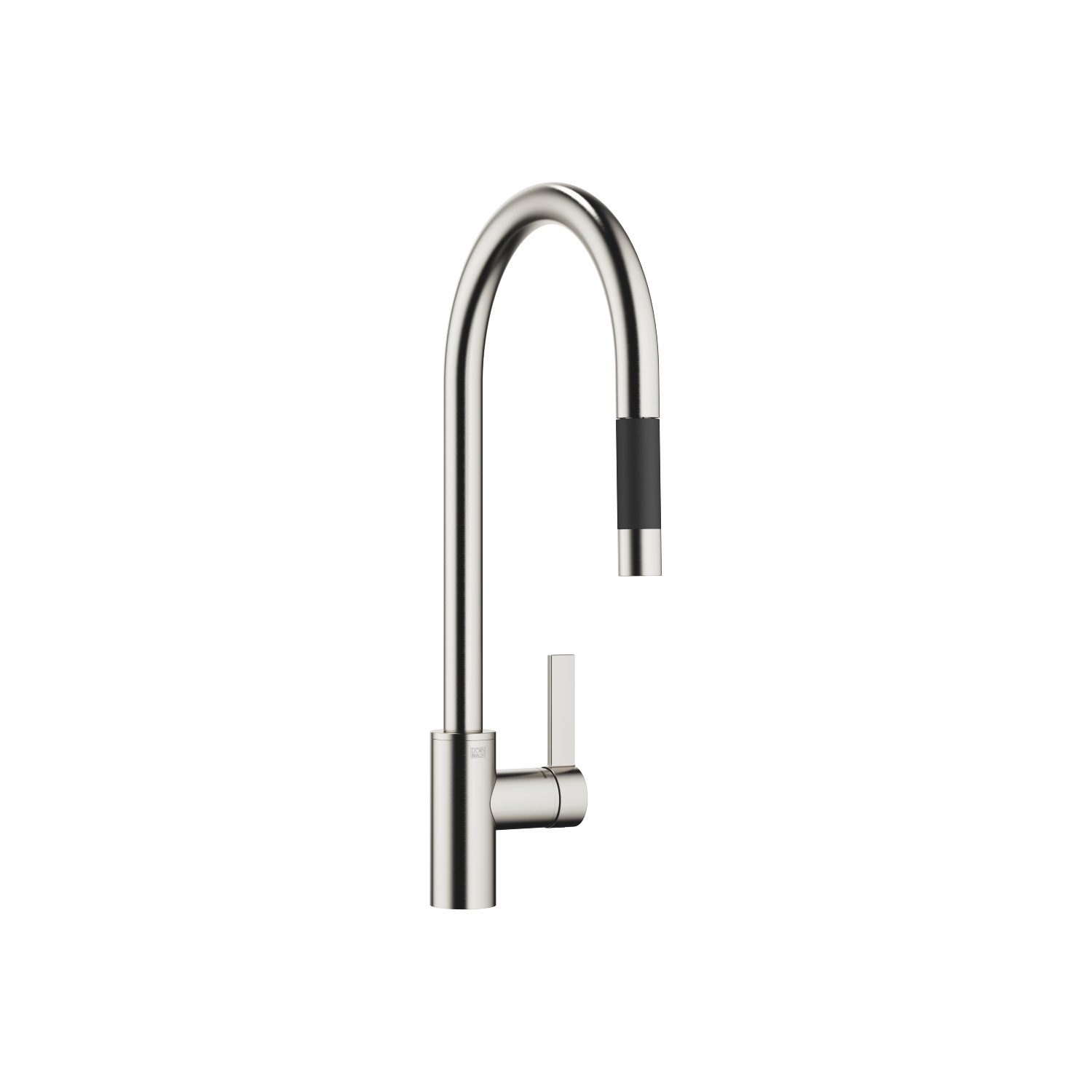 Single-lever mixer Pull-down with spray function - platinum matt