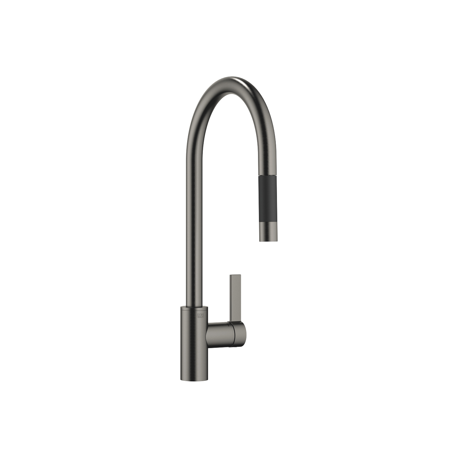Single-lever mixer Pull-down with spray function - Dark Platinum matt