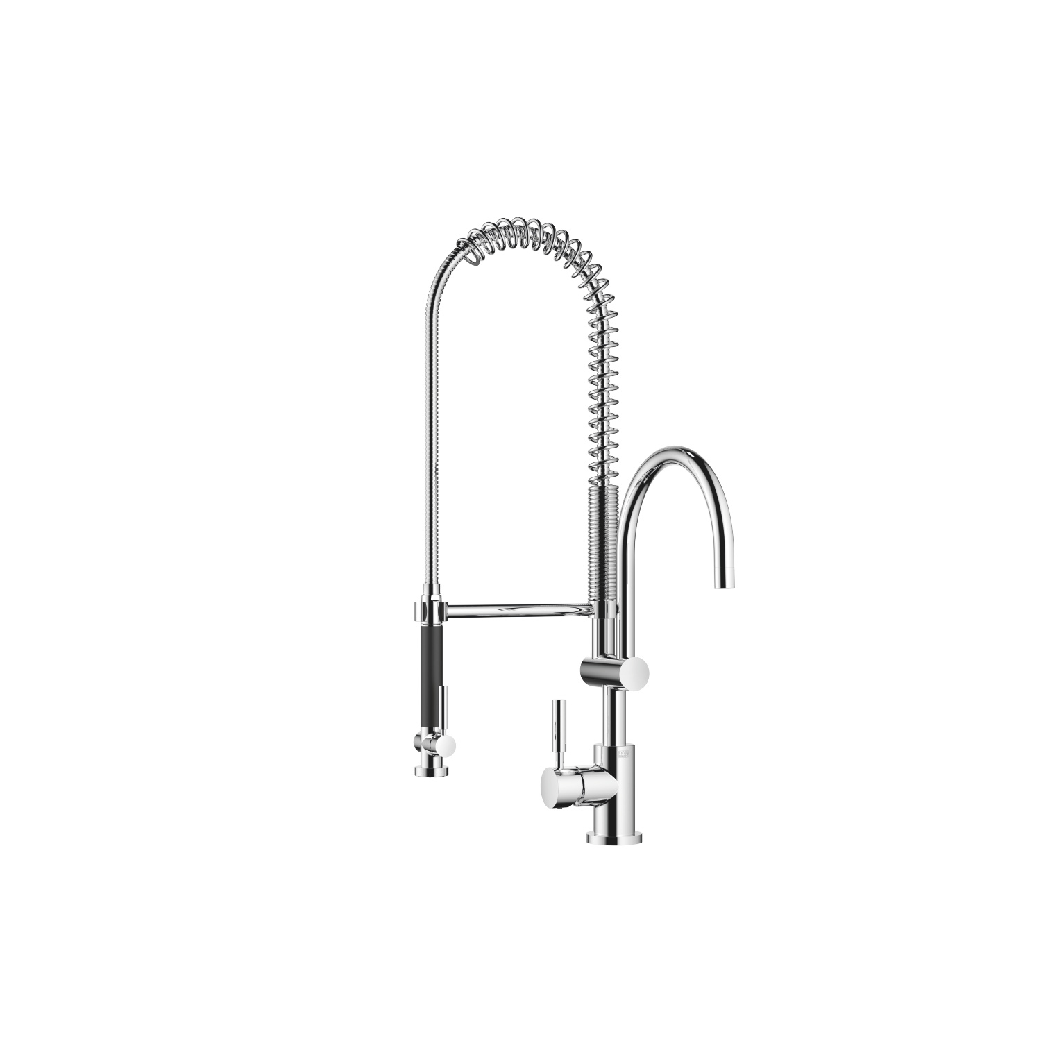 Profi single-lever mixer with lever on left - polished chrome