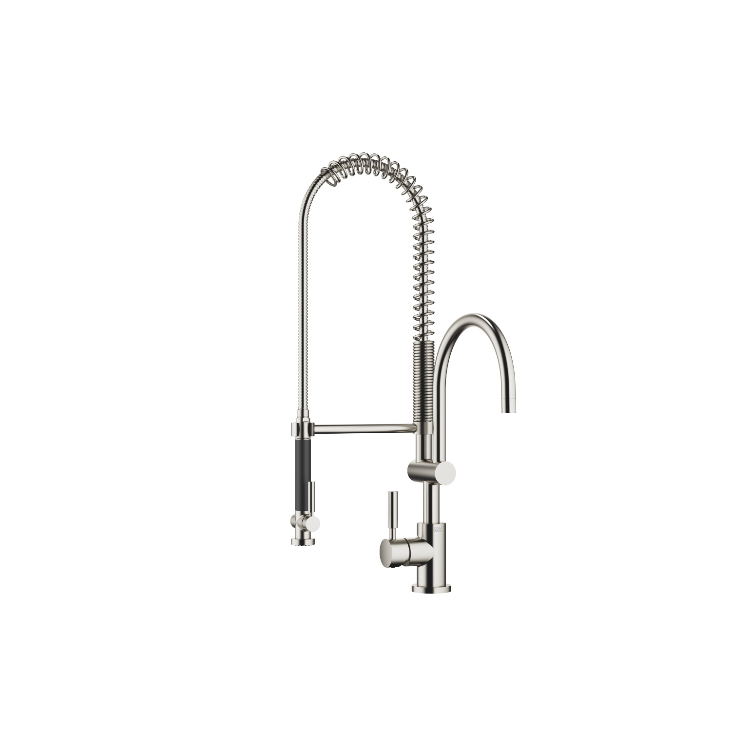 Profi single-lever mixer with lever on left - platinum matt