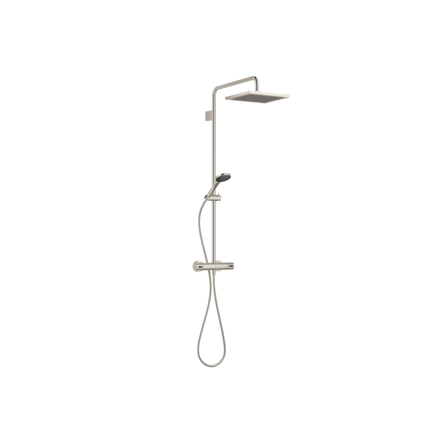 Showerpipe with shower thermostat - platinum matt