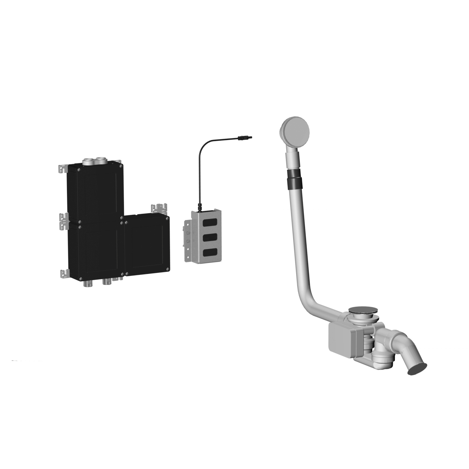 eSET Bath for 2 outlet points - polished chrome - 35 025 970-00