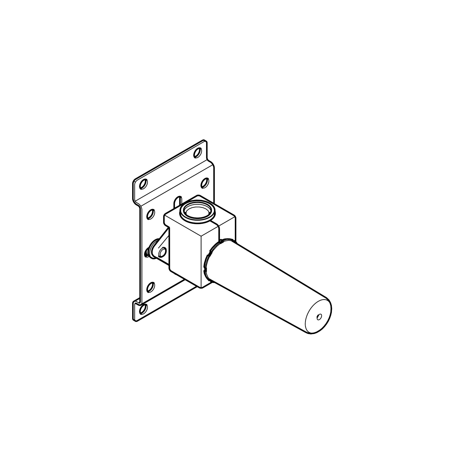 Concealed wall elbow -