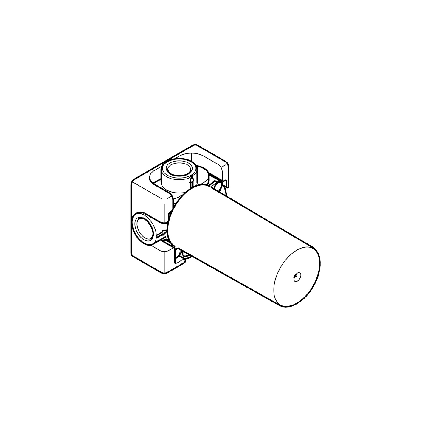 Concealed two-way diverter - - 35 124 970 90