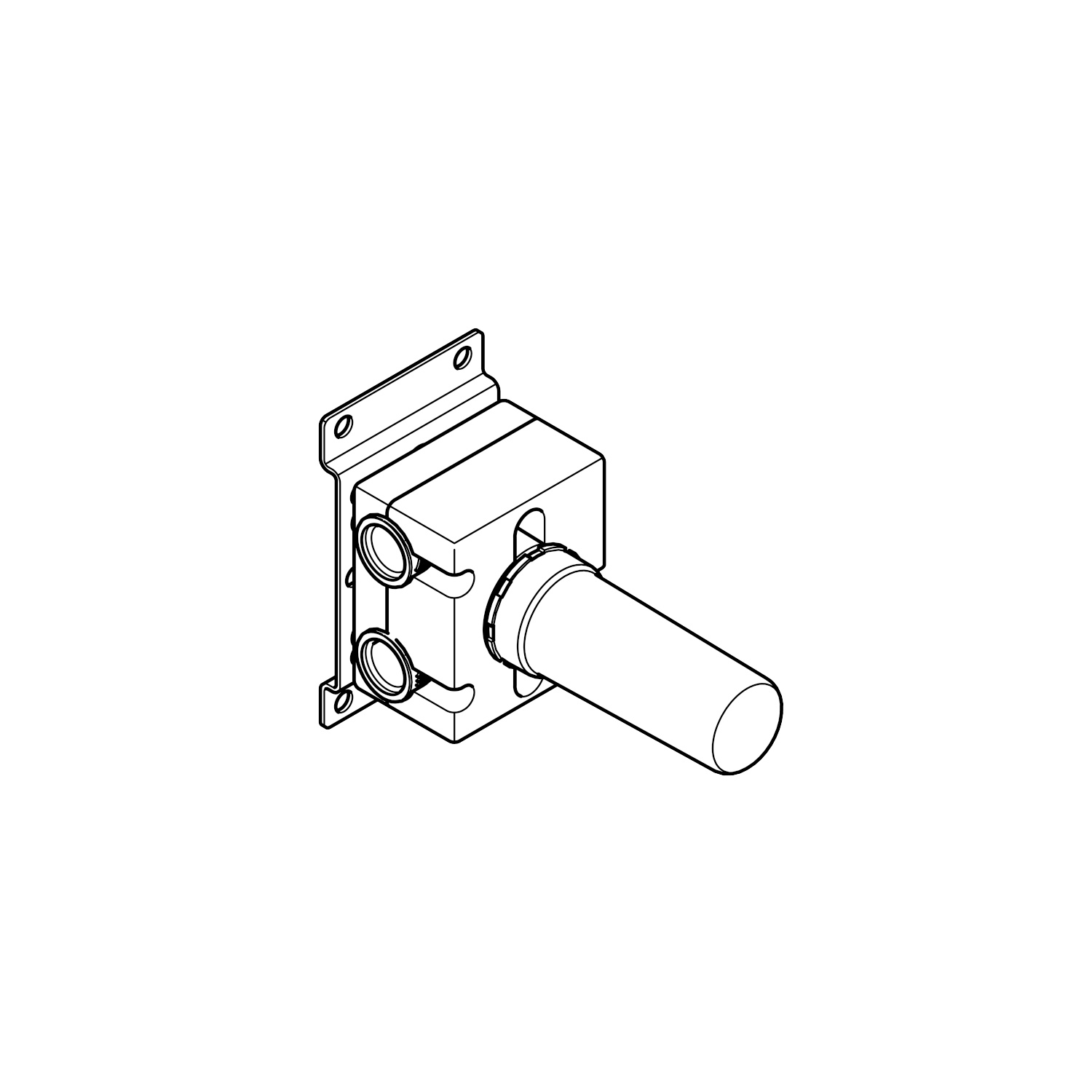 Wall mounted two-way diverter -